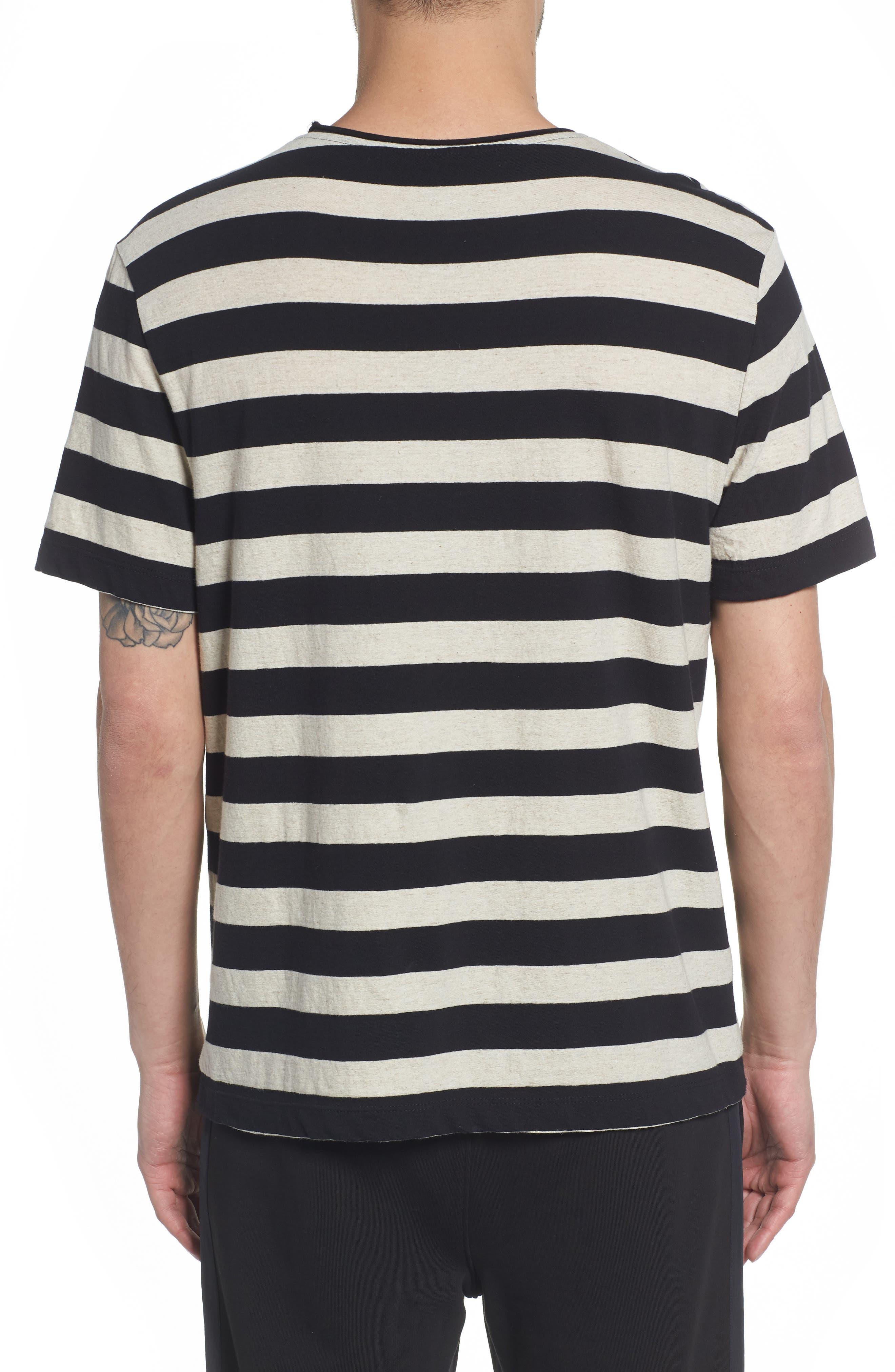 Stripe Regular Fit Shirt,                             Alternate thumbnail 2, color,                             LINEN/ BLACK