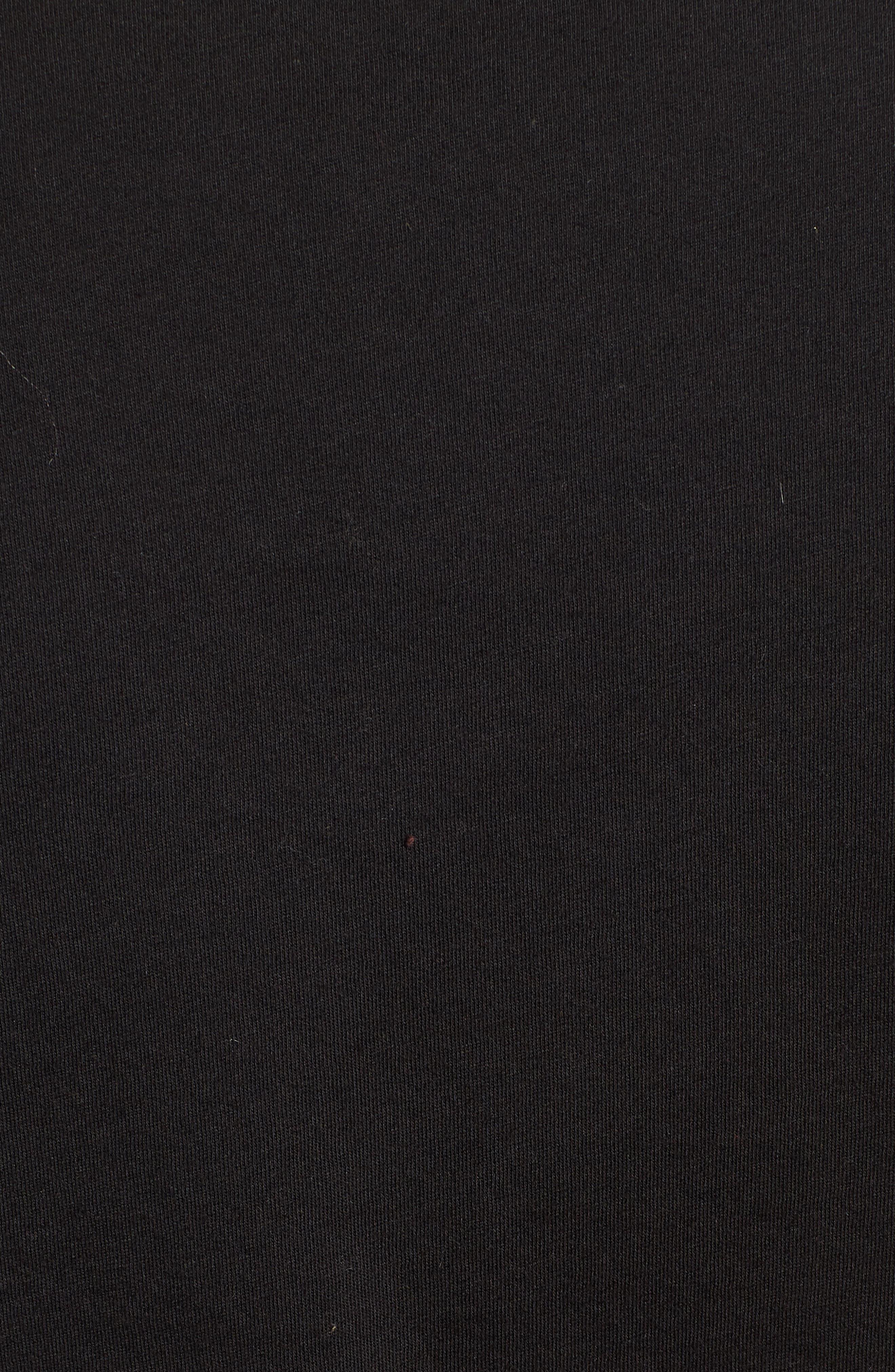 Kenya Stripe Shoulder Tee,                             Alternate thumbnail 5, color,                             BLACK CAT