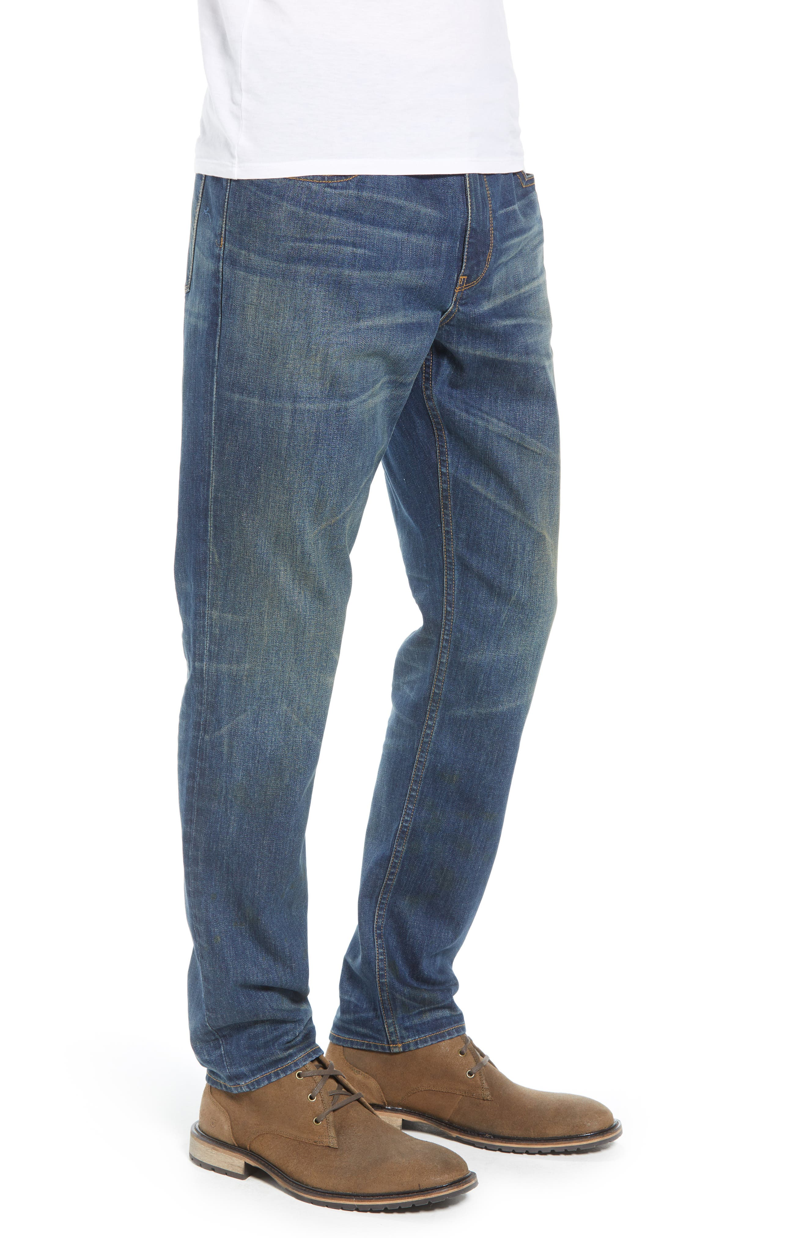 TREASURE & BOND,                             Slim Fit Jeans,                             Alternate thumbnail 3, color,                             BLUE MED VINTAGE WASH