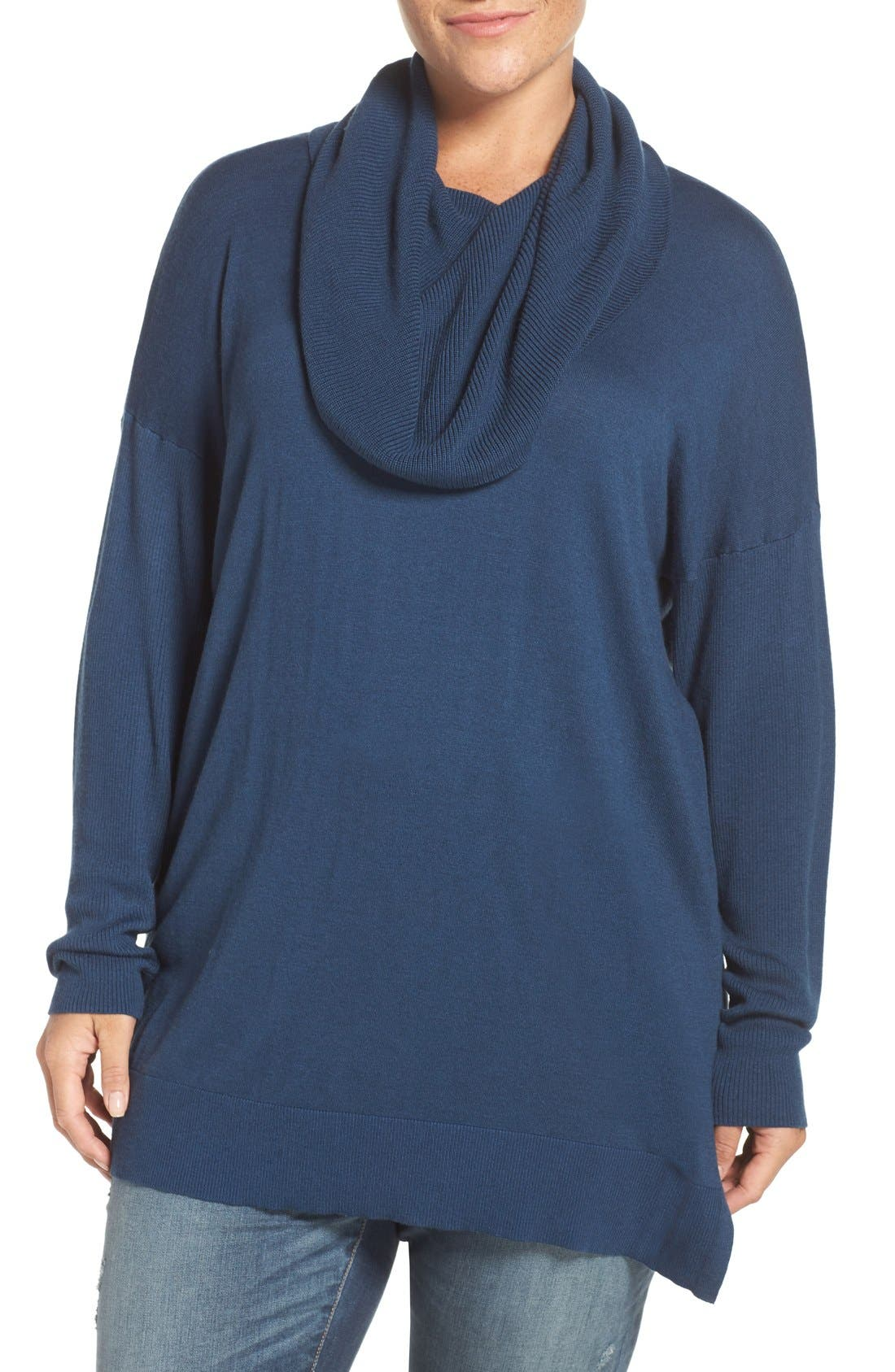 Cowl Neck Tunic Sweater,                             Main thumbnail 5, color,