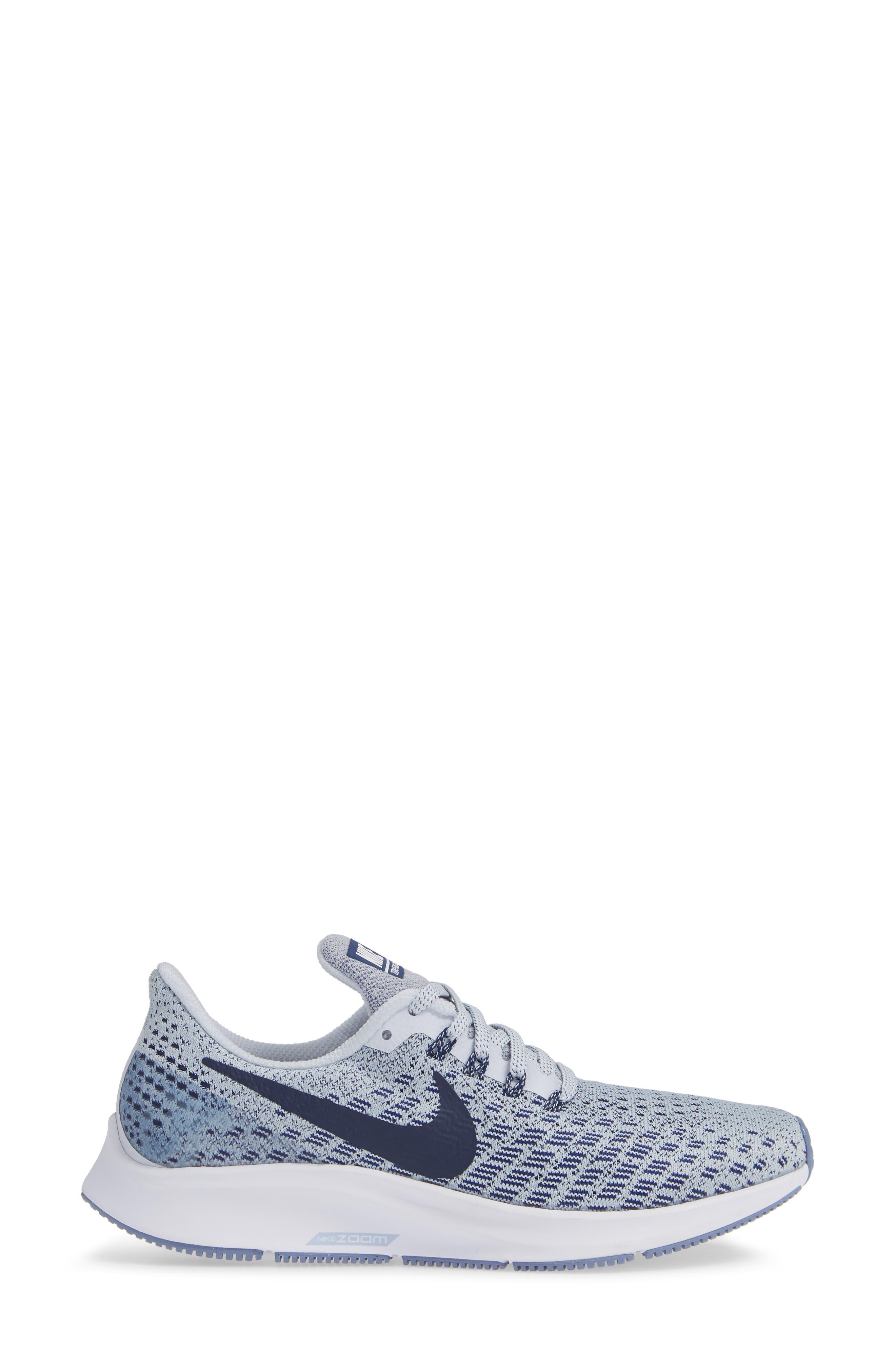 Air Zoom Pegasus 35 Running Shoe,                             Alternate thumbnail 3, color,                             GREY/ BLUE/ WHITE/ ALUMINUM