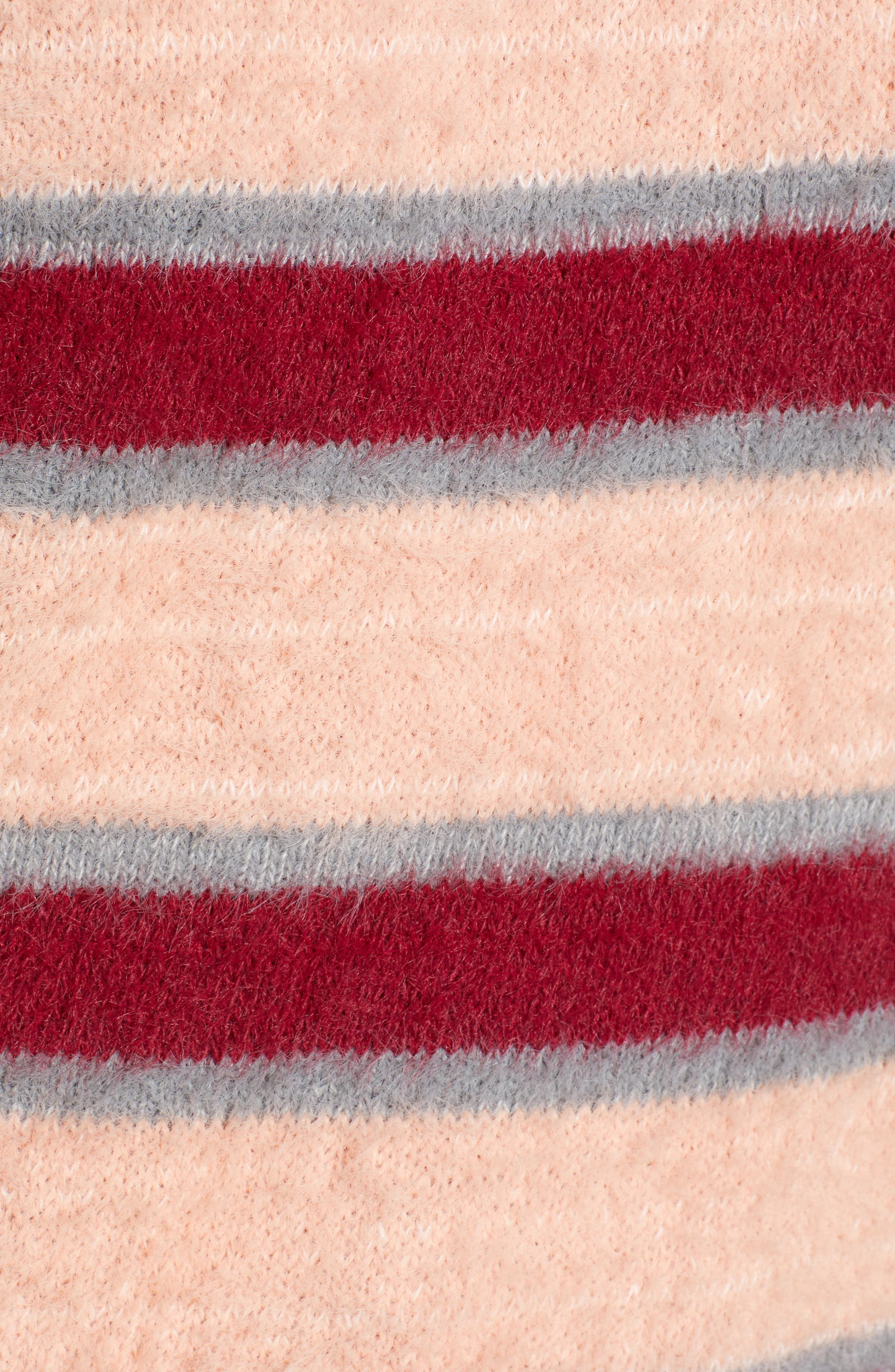 Stripe Eyelash Sweater,                             Alternate thumbnail 5, color,                             650