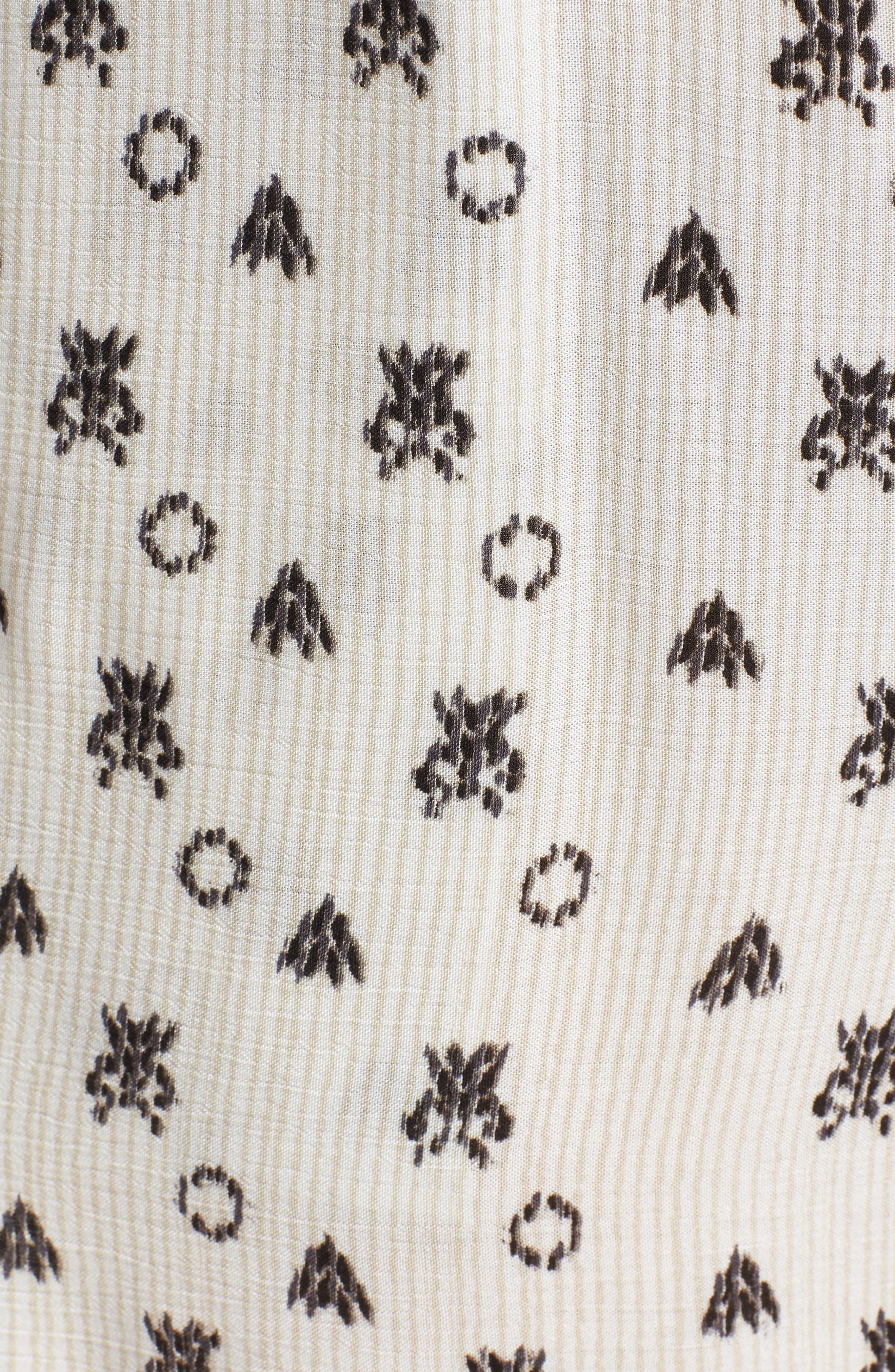 Desert Batik Print Tie Waist Jumpsuit,                             Alternate thumbnail 6, color,                             NATURAL