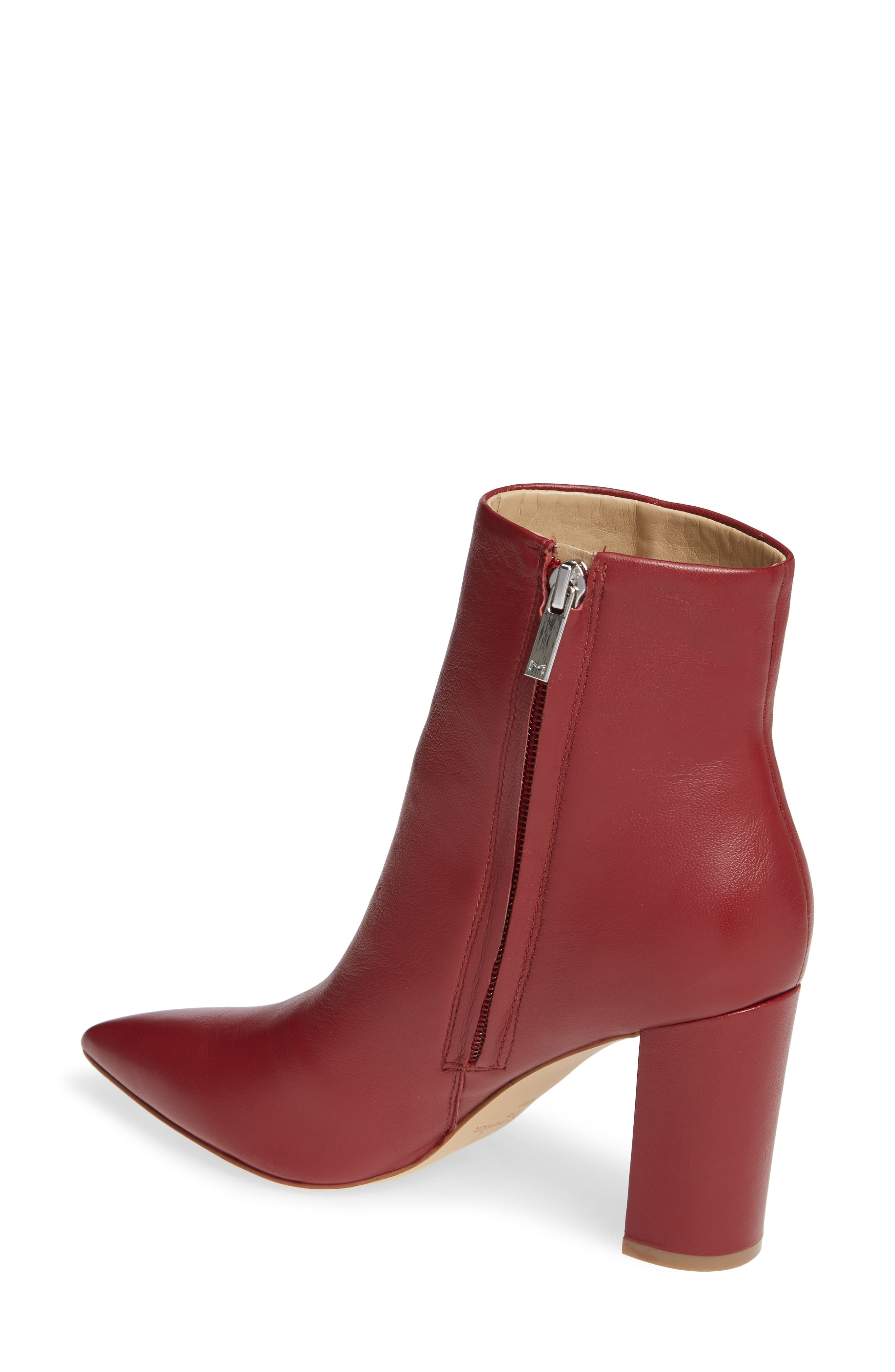 Ulani Pointy Toe Bootie,                             Alternate thumbnail 2, color,                             RED LEATHER
