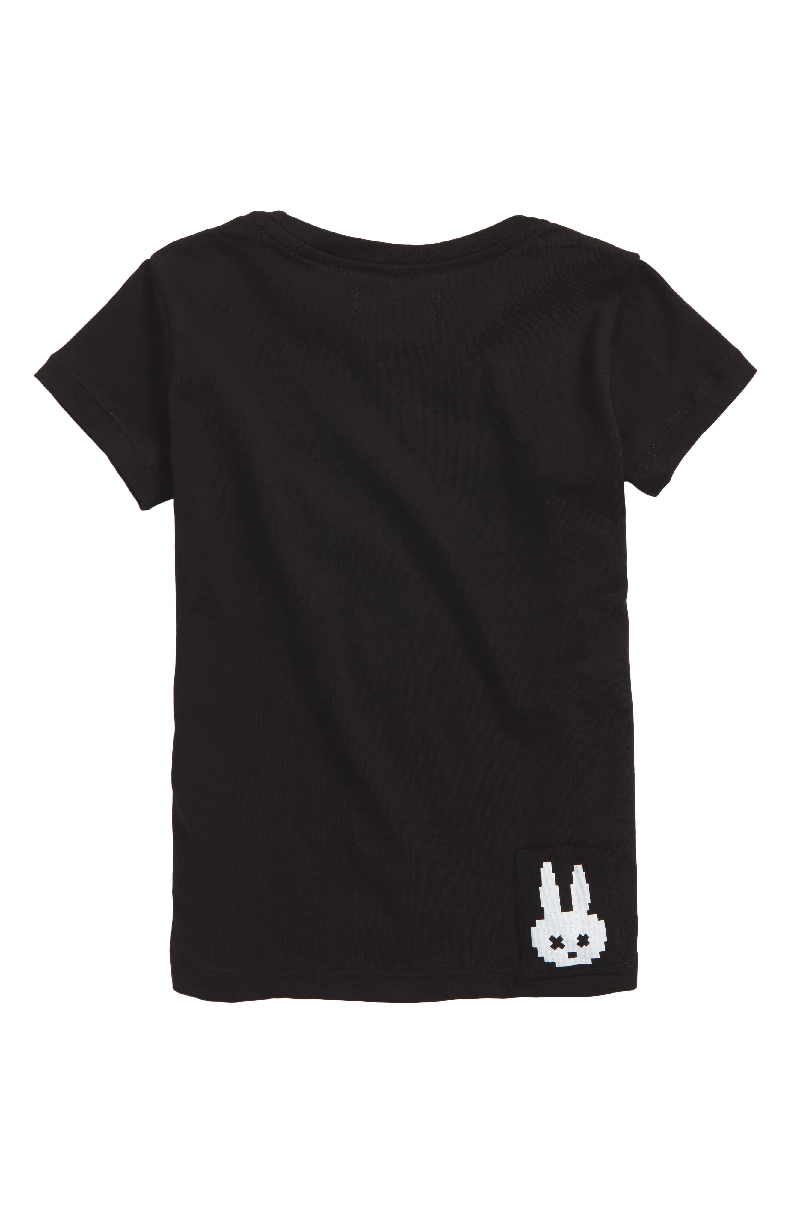Silver Pirate Bunny Graphic T-Shirt,                             Alternate thumbnail 2, color,                             001