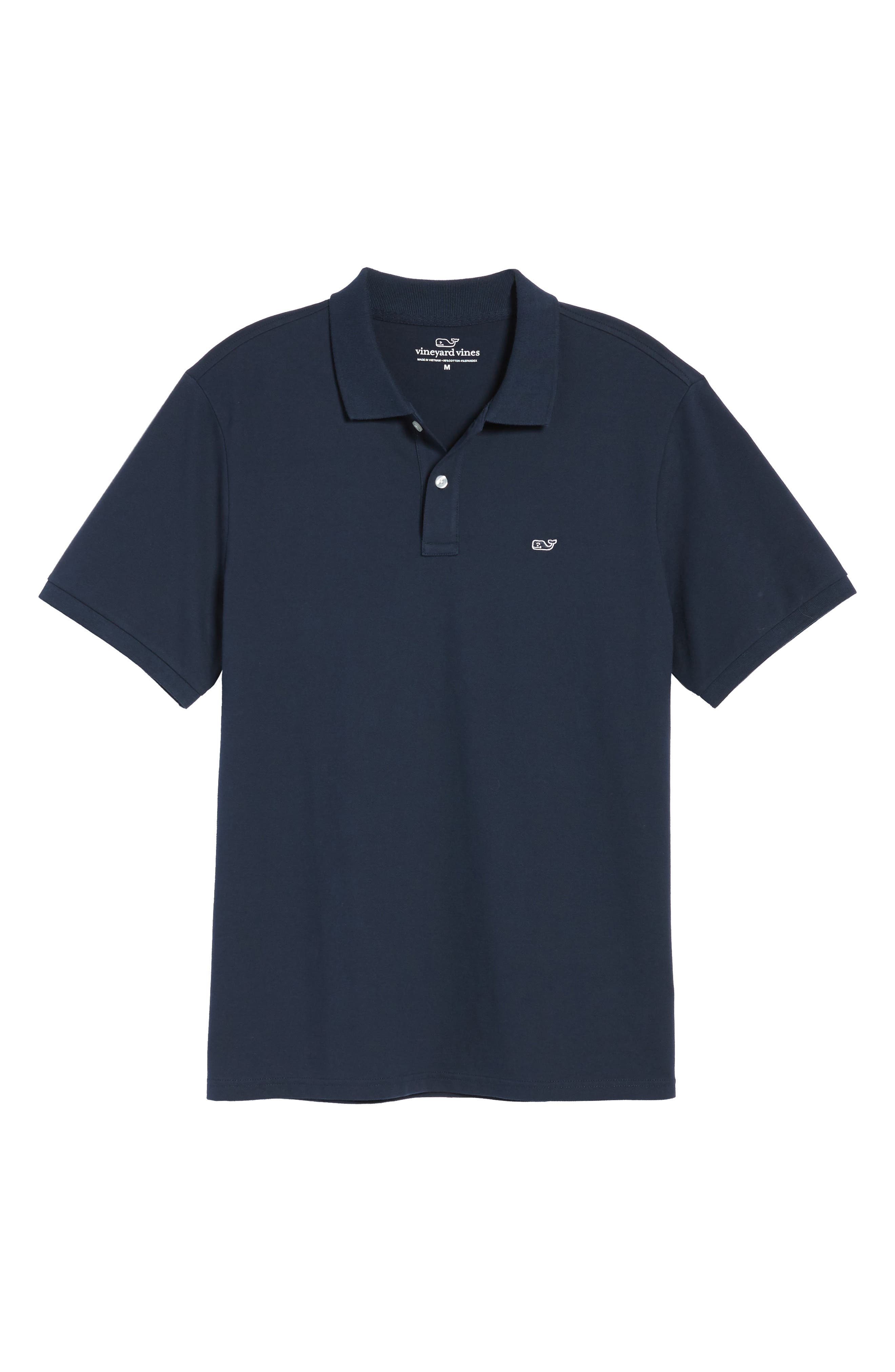 Regular Fit Piqué Polo,                             Alternate thumbnail 6, color,                             NAVY