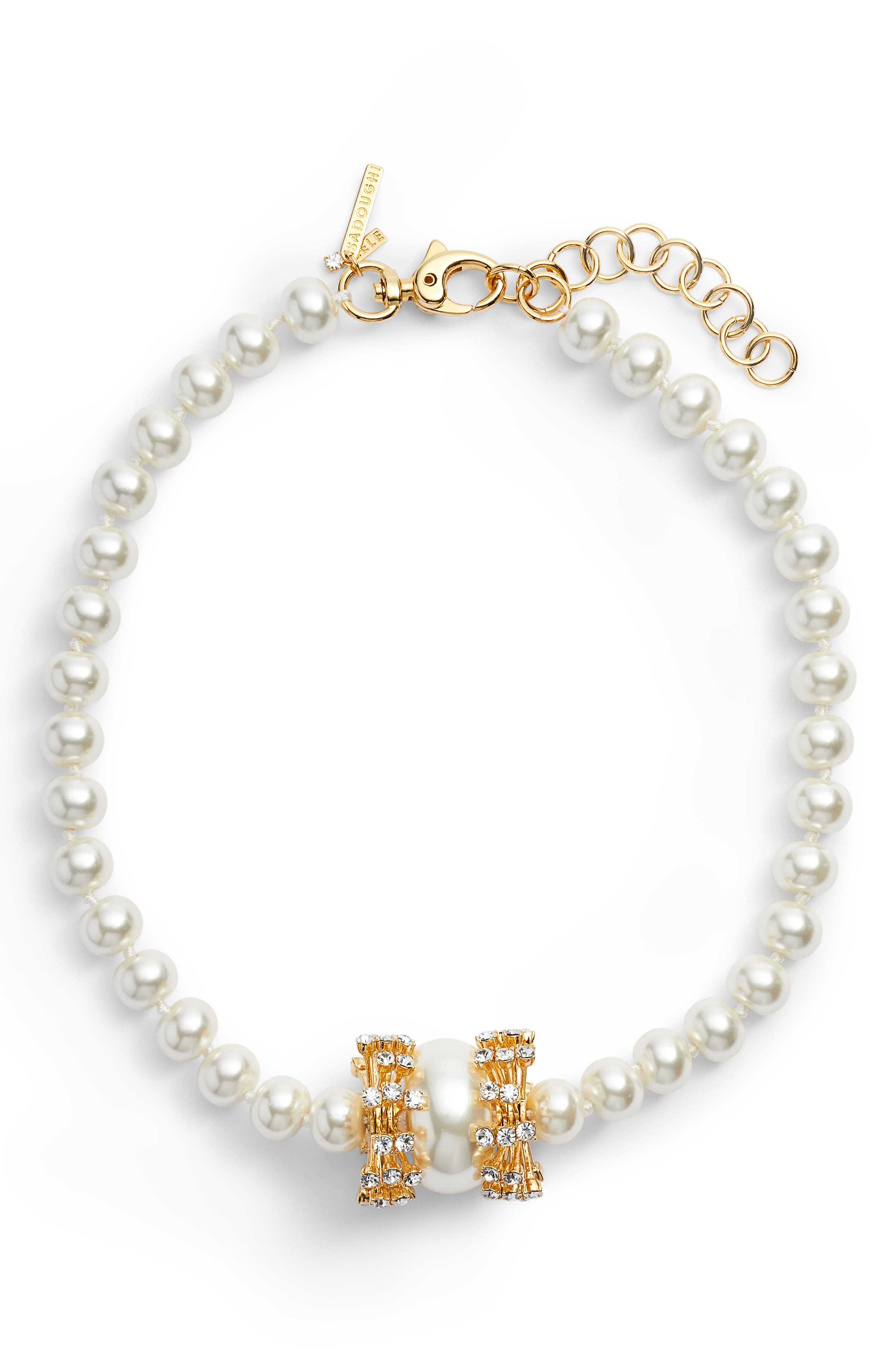 Copacabana Collar Necklace,                         Main,                         color, PEARL