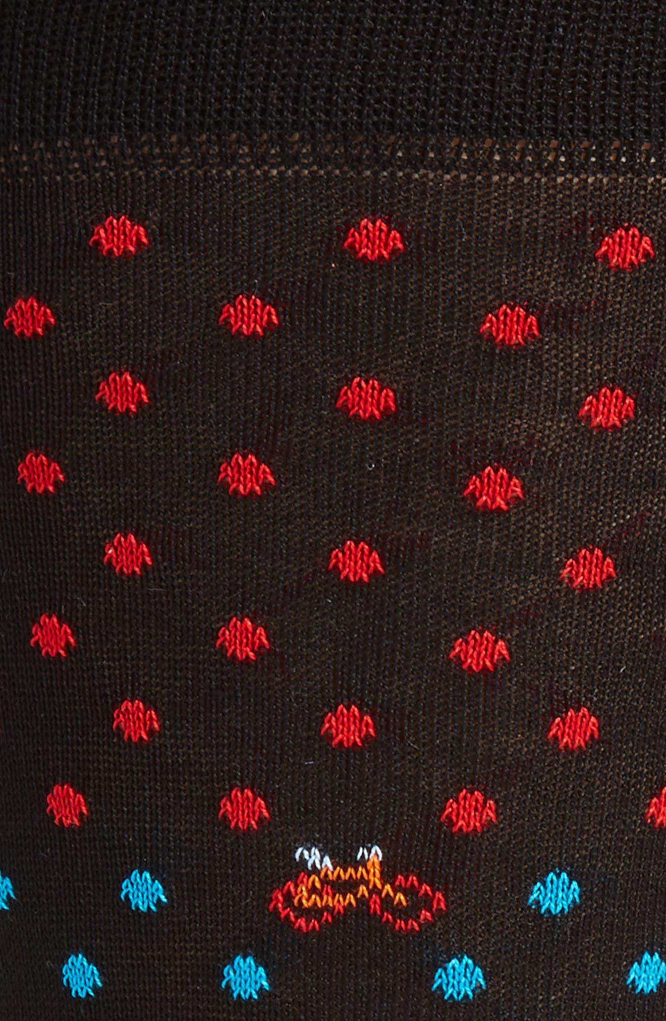 Dot Bike Socks,                             Alternate thumbnail 2, color,                             001