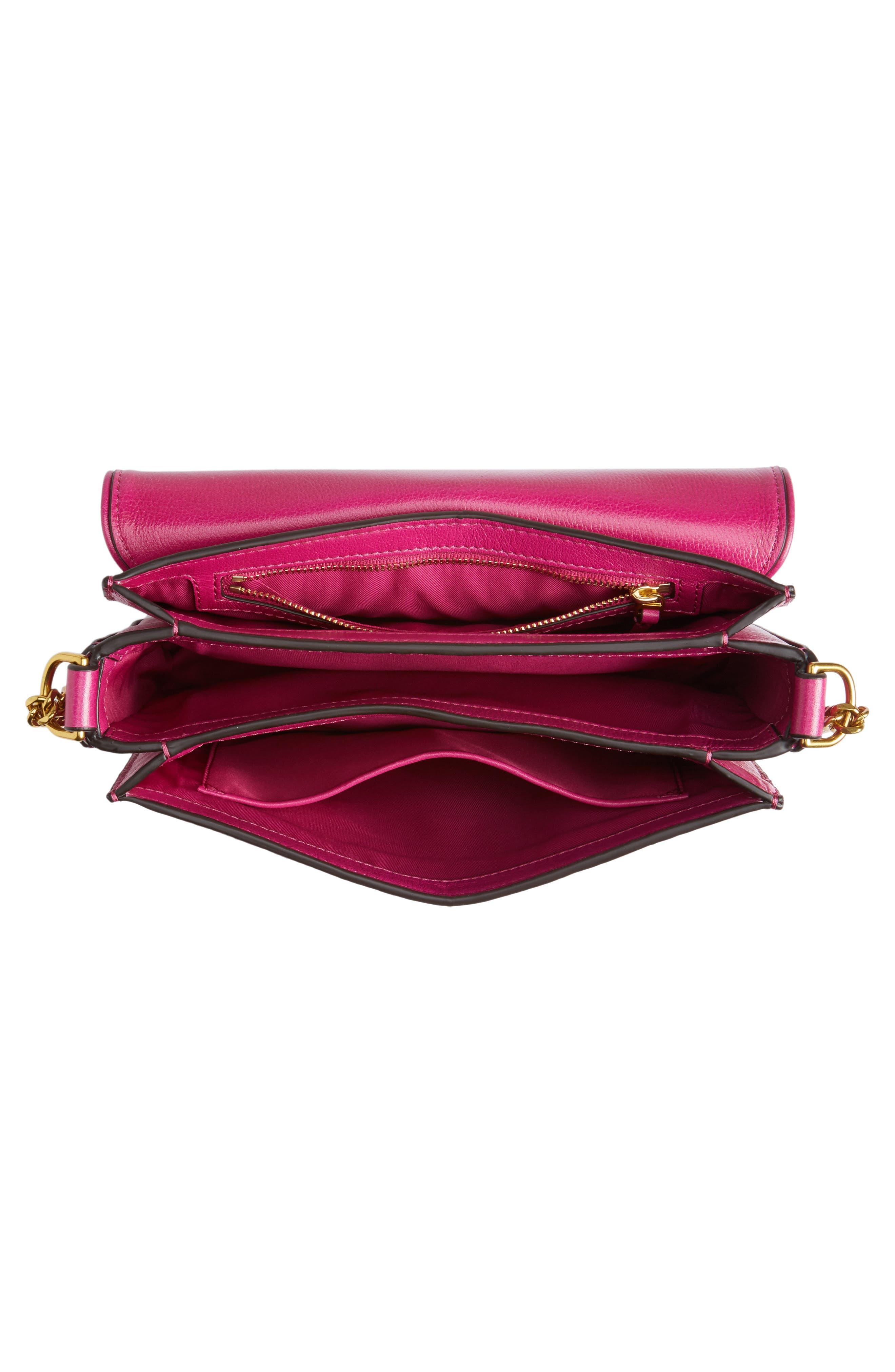 Chelsea Genuine Leather Shoulder Bag,                             Alternate thumbnail 4, color,                             650