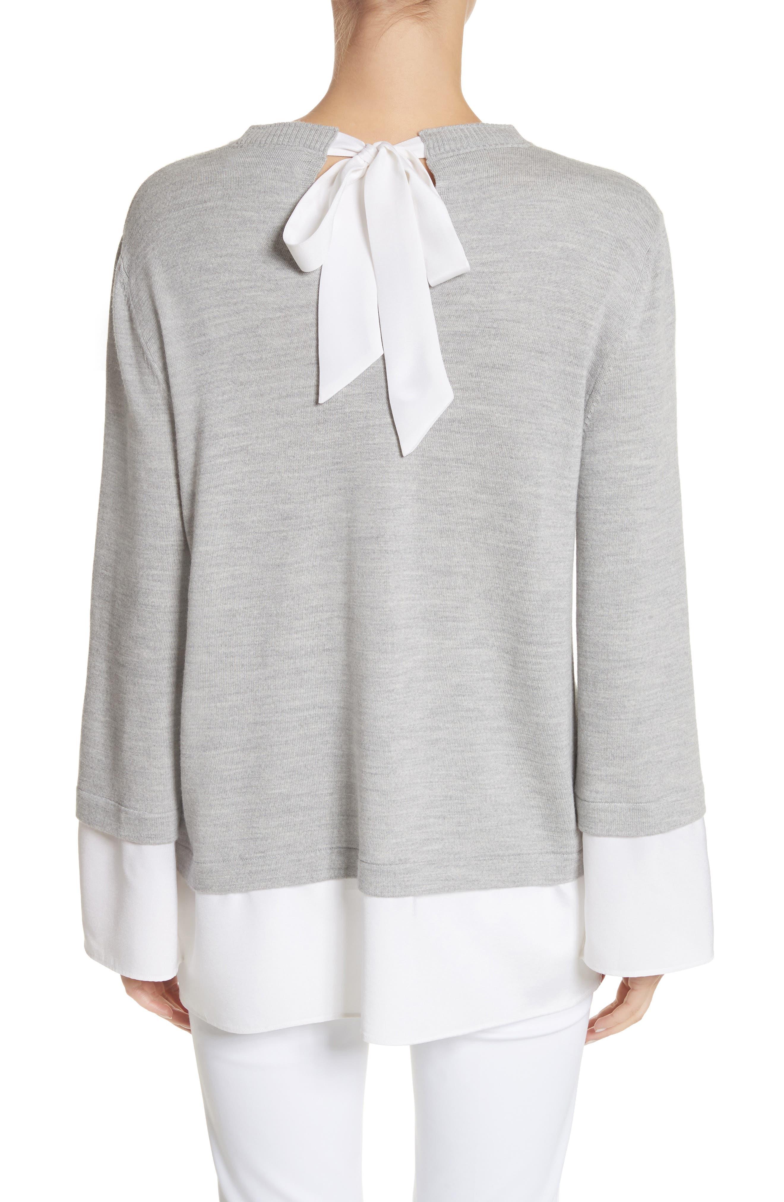 Layered Hem Wool Sweater,                             Alternate thumbnail 2, color,                             050