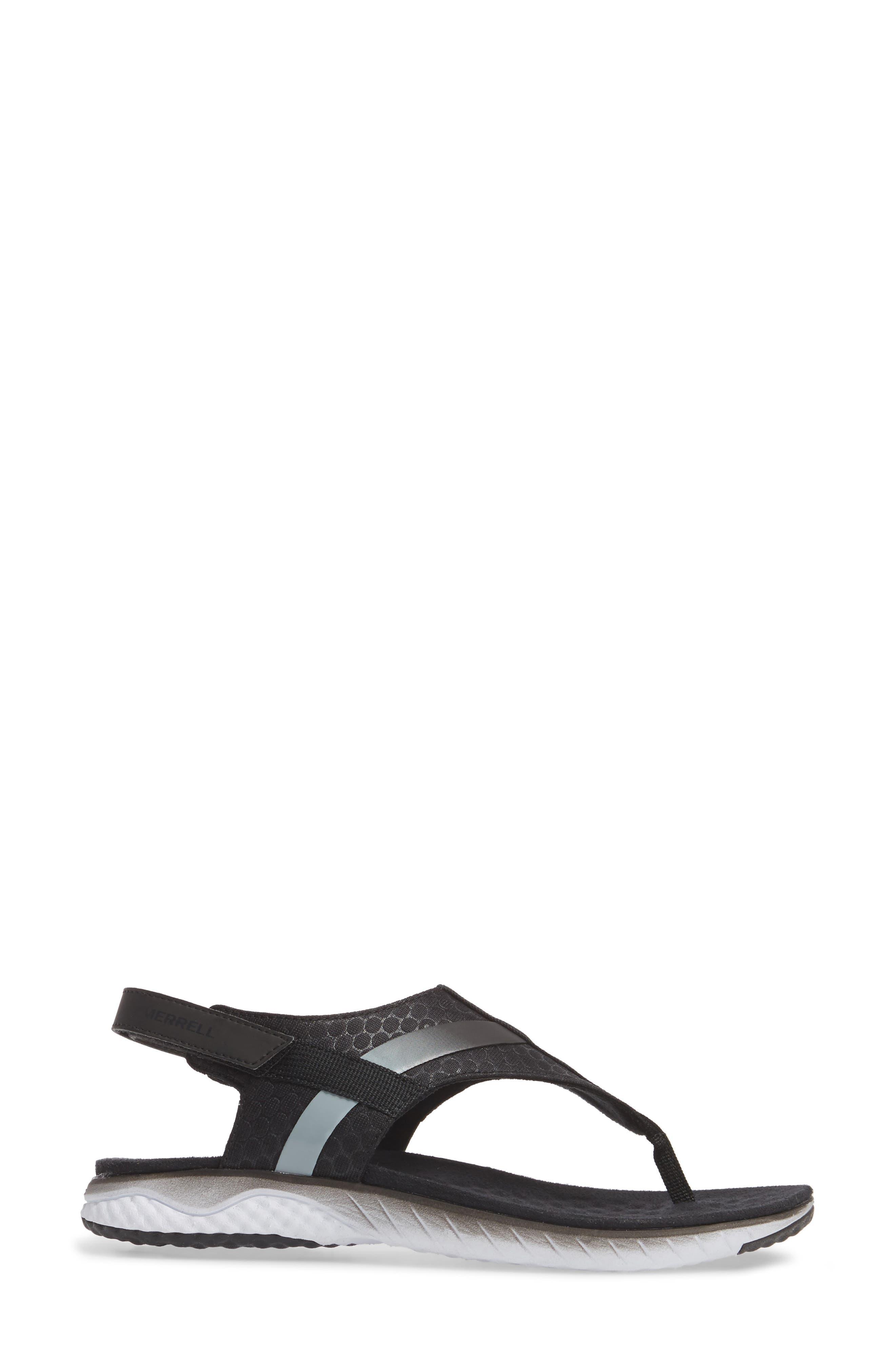 1SIX8 Linna Slide Air Cushion+ Sandal,                             Alternate thumbnail 3, color,                             001