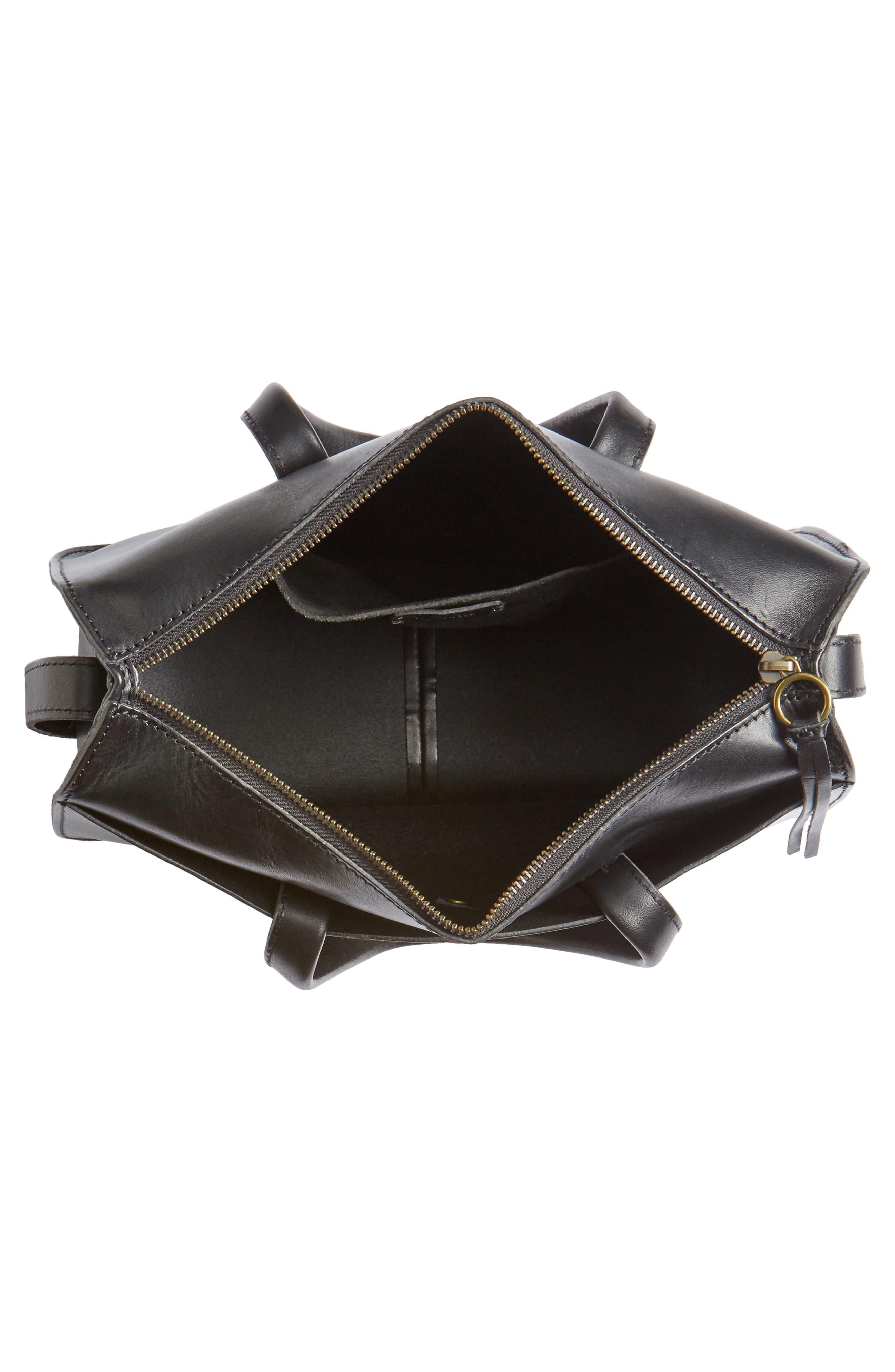 Montreal Leather Satchel,                             Alternate thumbnail 4, color,                             001