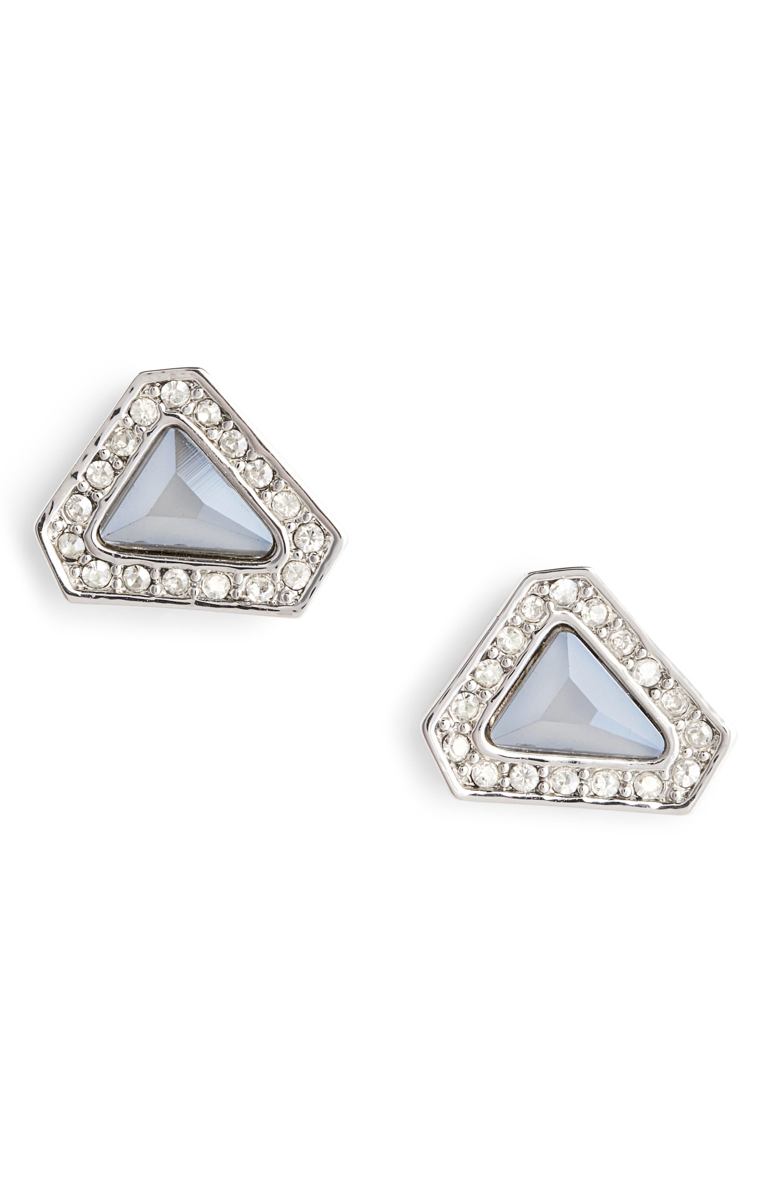 Swarovski Crystal Stud Earrings,                         Main,                         color, 020