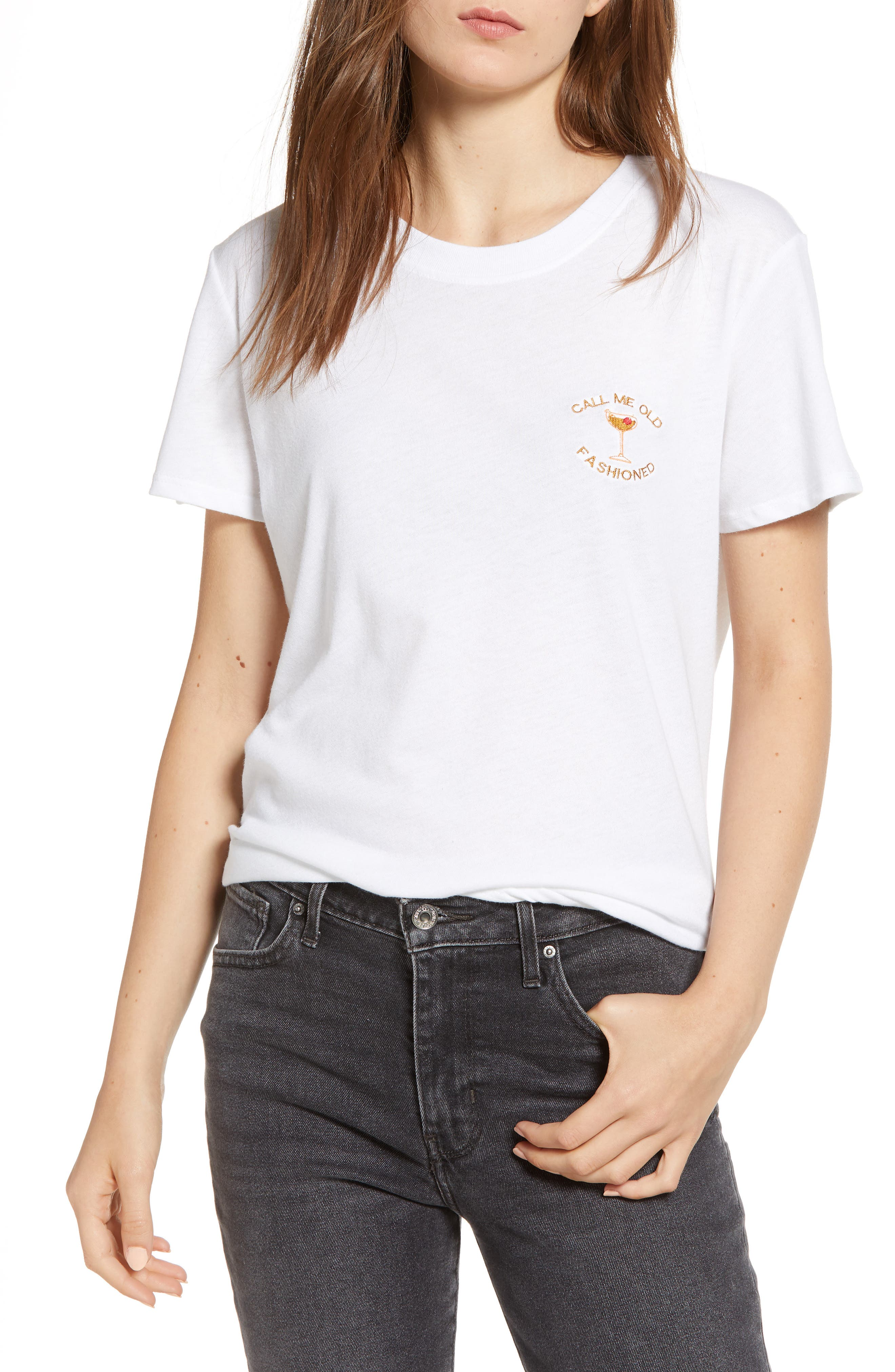 Old Fashioned Slouched Tee,                         Main,                         color, WHITE