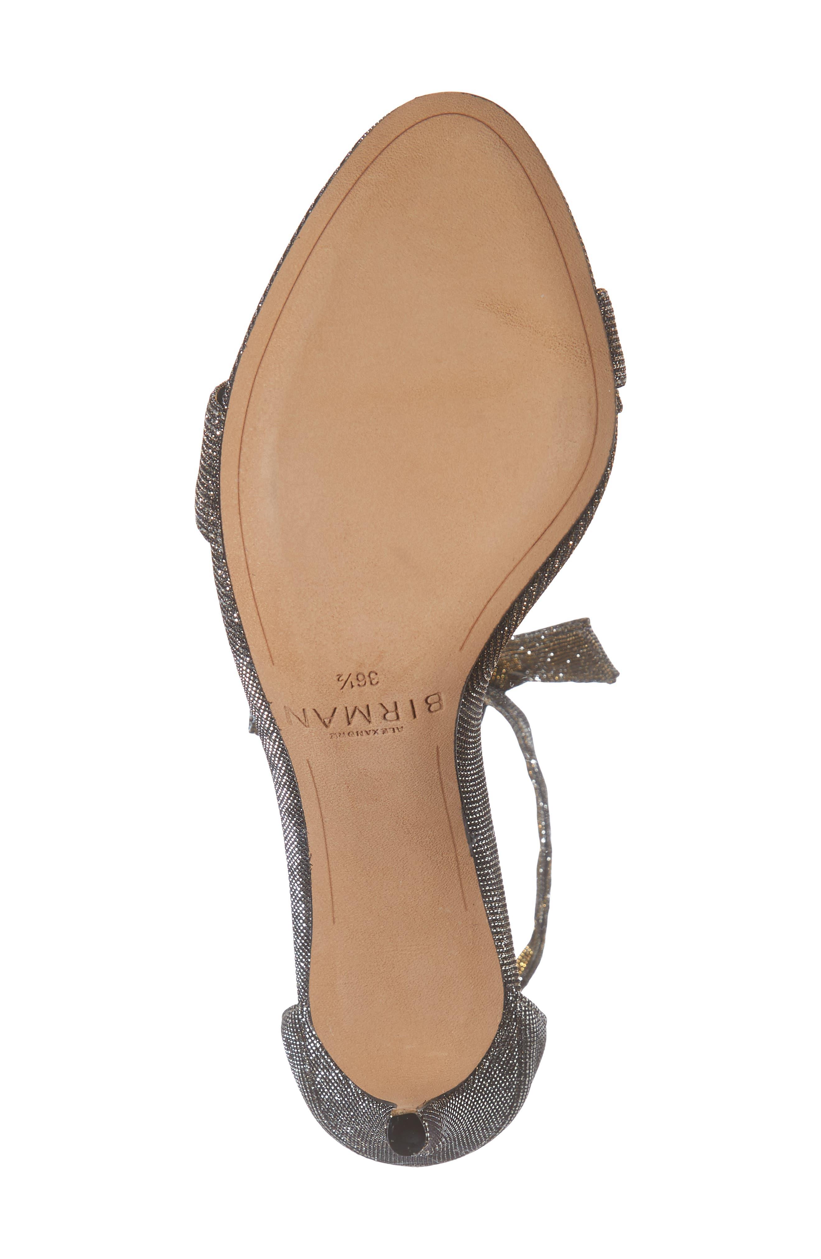 Clarita Ankle Strap Sandal,                             Alternate thumbnail 6, color,                             SILVER
