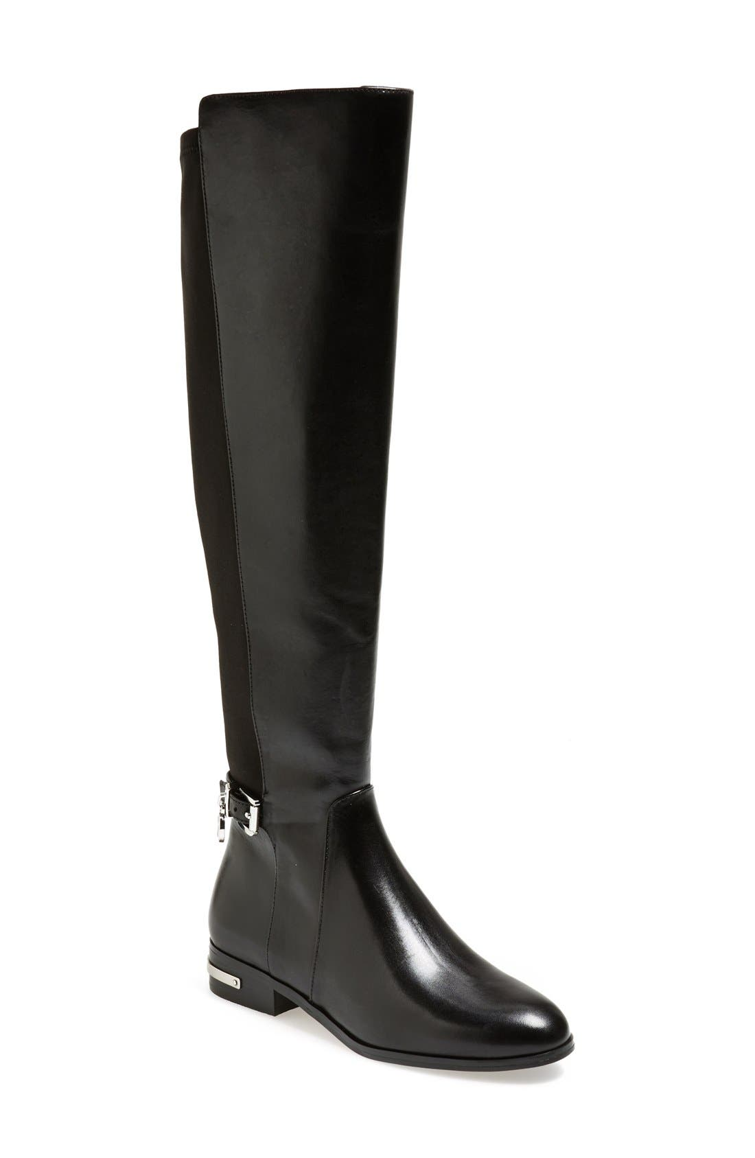 'Aileen' Leather Boot,                             Main thumbnail 1, color,                             001