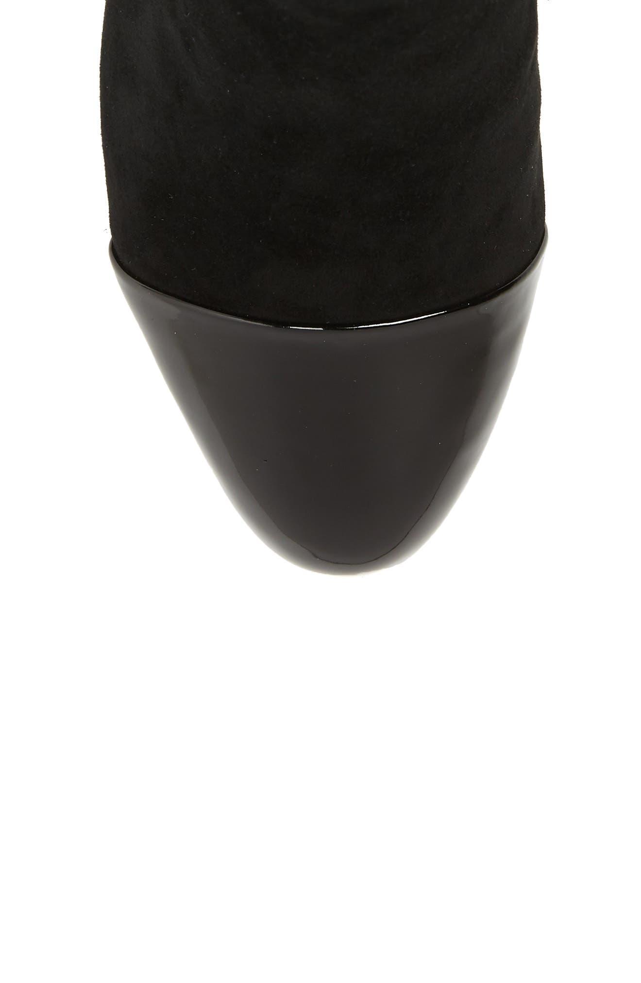 Whitaker Boot,                             Alternate thumbnail 5, color,                             BLACK SUEDE/BLACK PATENT