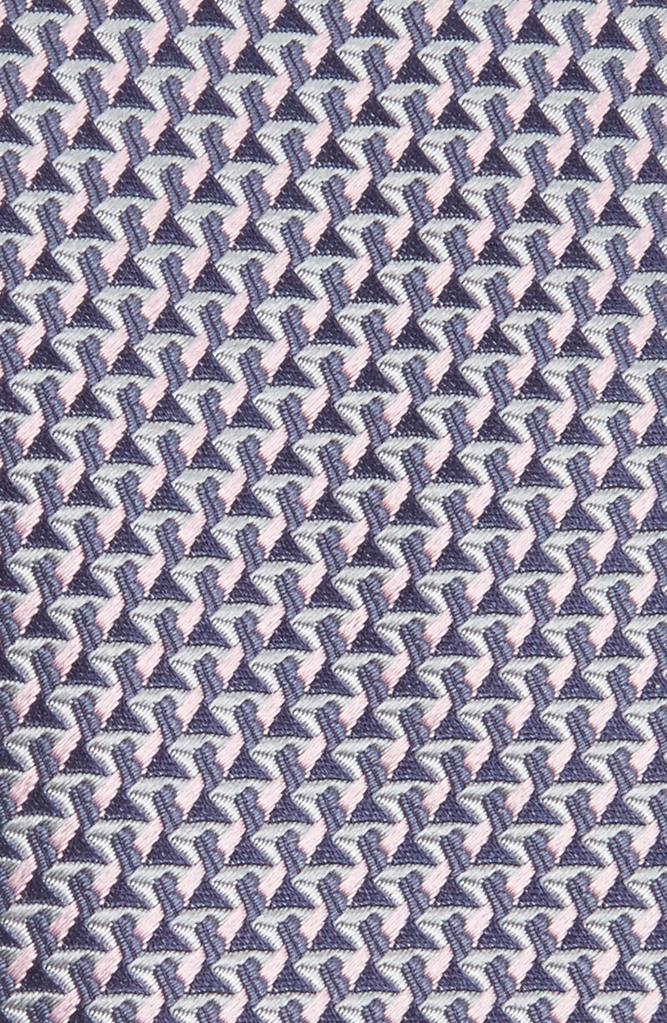 Geometric Silk Tie,                             Alternate thumbnail 2, color,                             070