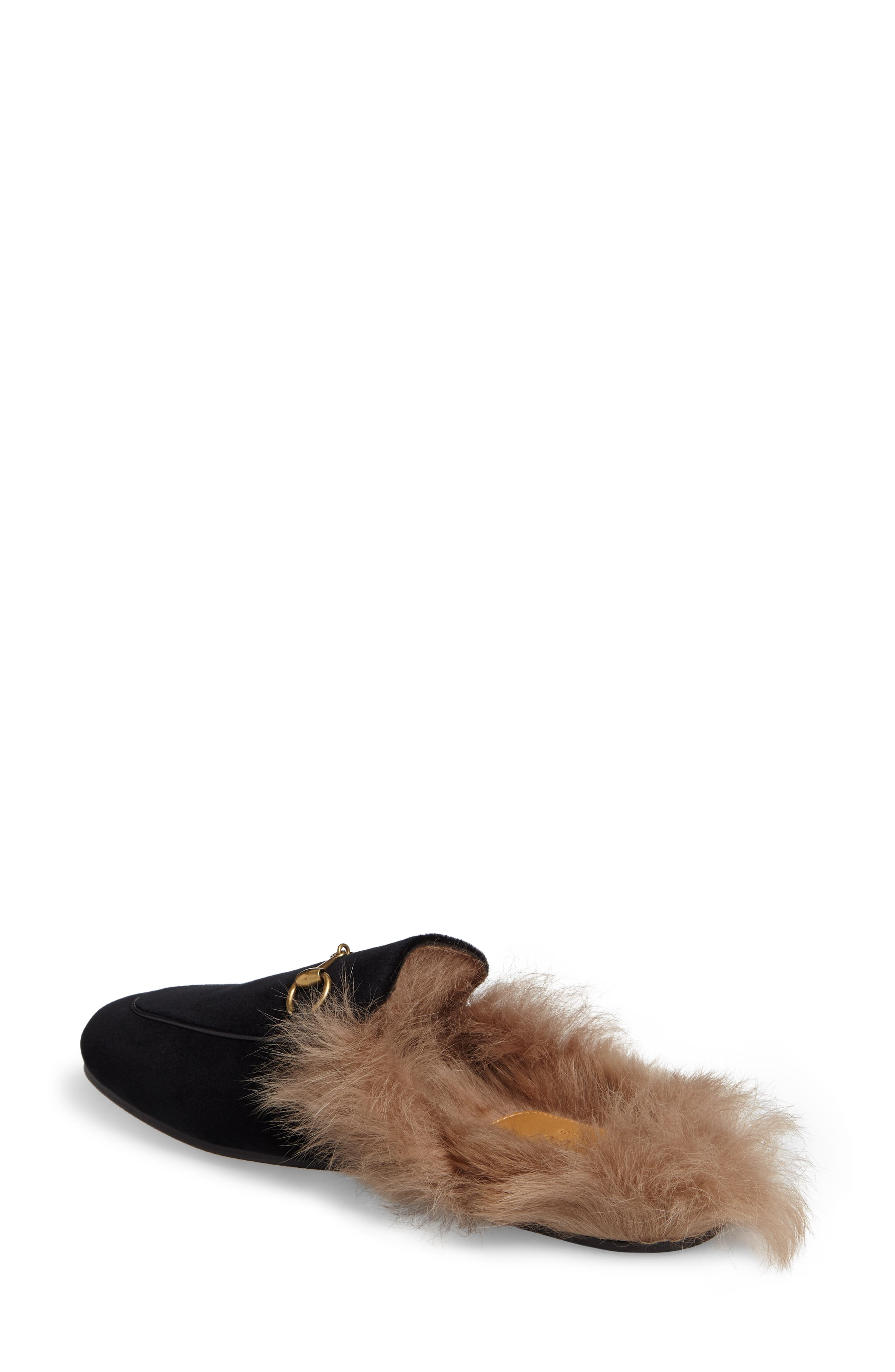 Princetown Genuine Shearling Mule Loafer,                             Alternate thumbnail 2, color,                             001