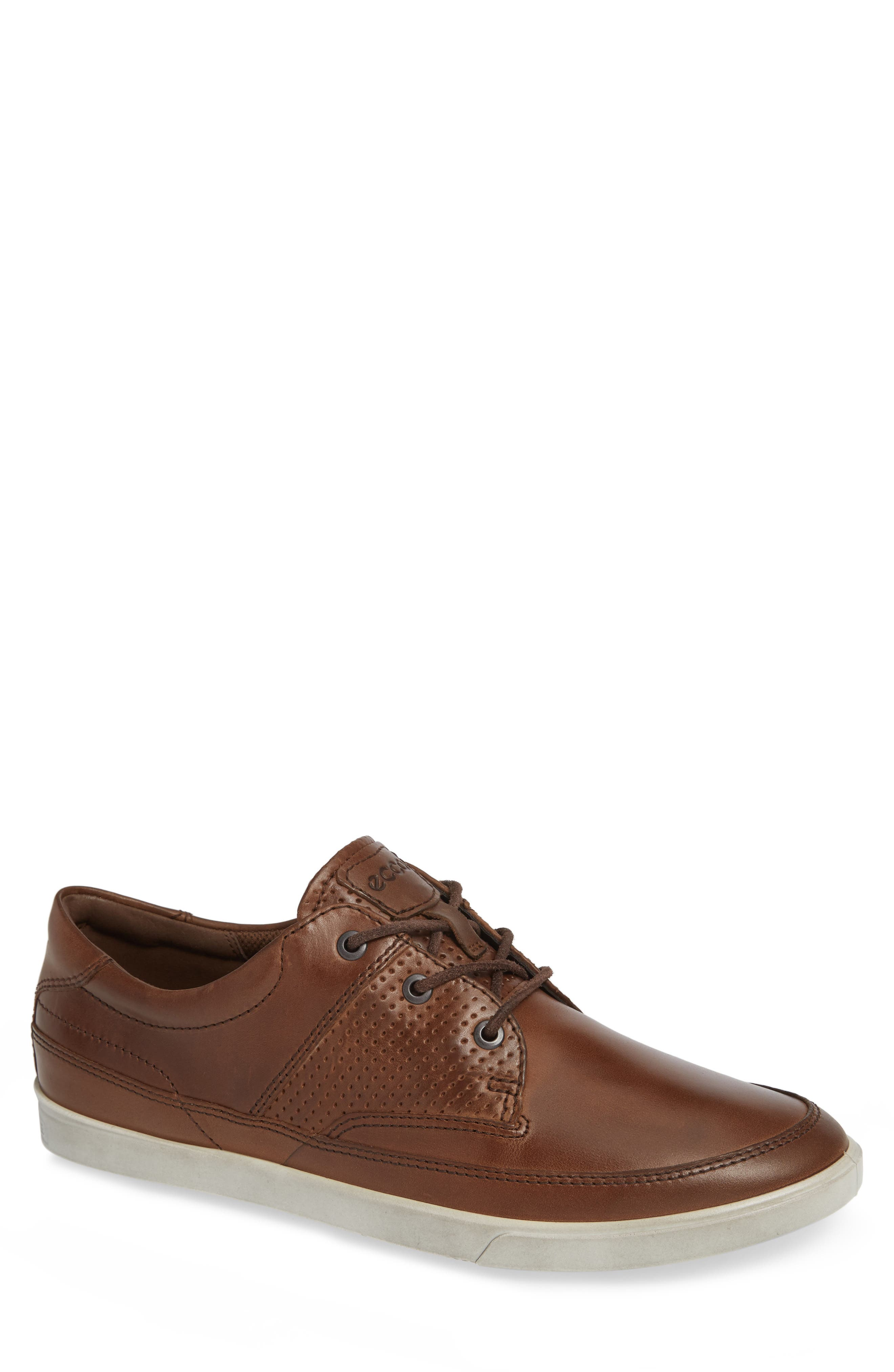 'Collin' Nautical Sneaker,                             Main thumbnail 1, color,                             COCOA BROWN LEATHER