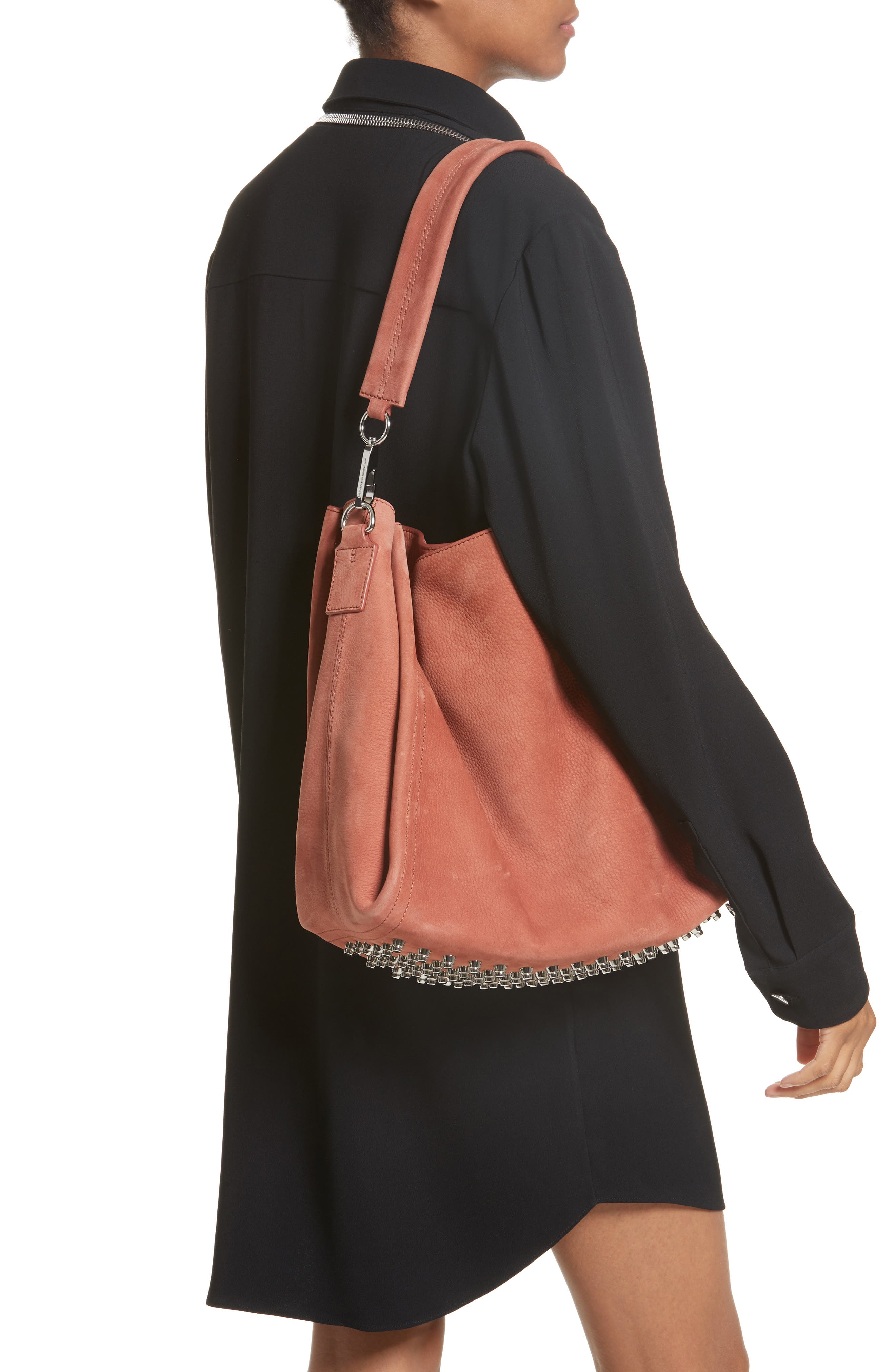 Darcy Pebbled Leather Hobo,                             Alternate thumbnail 2, color,                             200