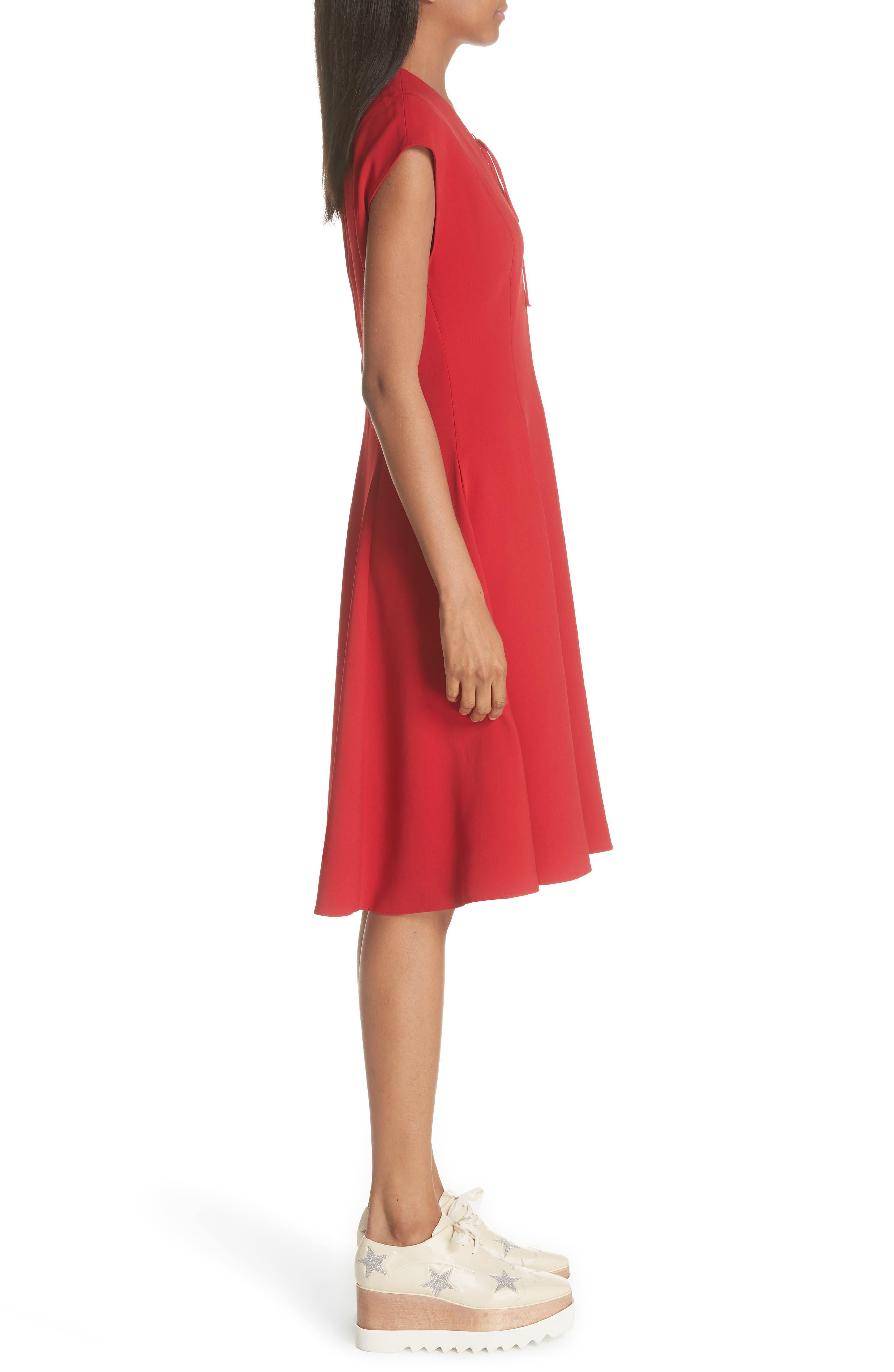 Lace-Up Dress,                             Alternate thumbnail 3, color,                             627
