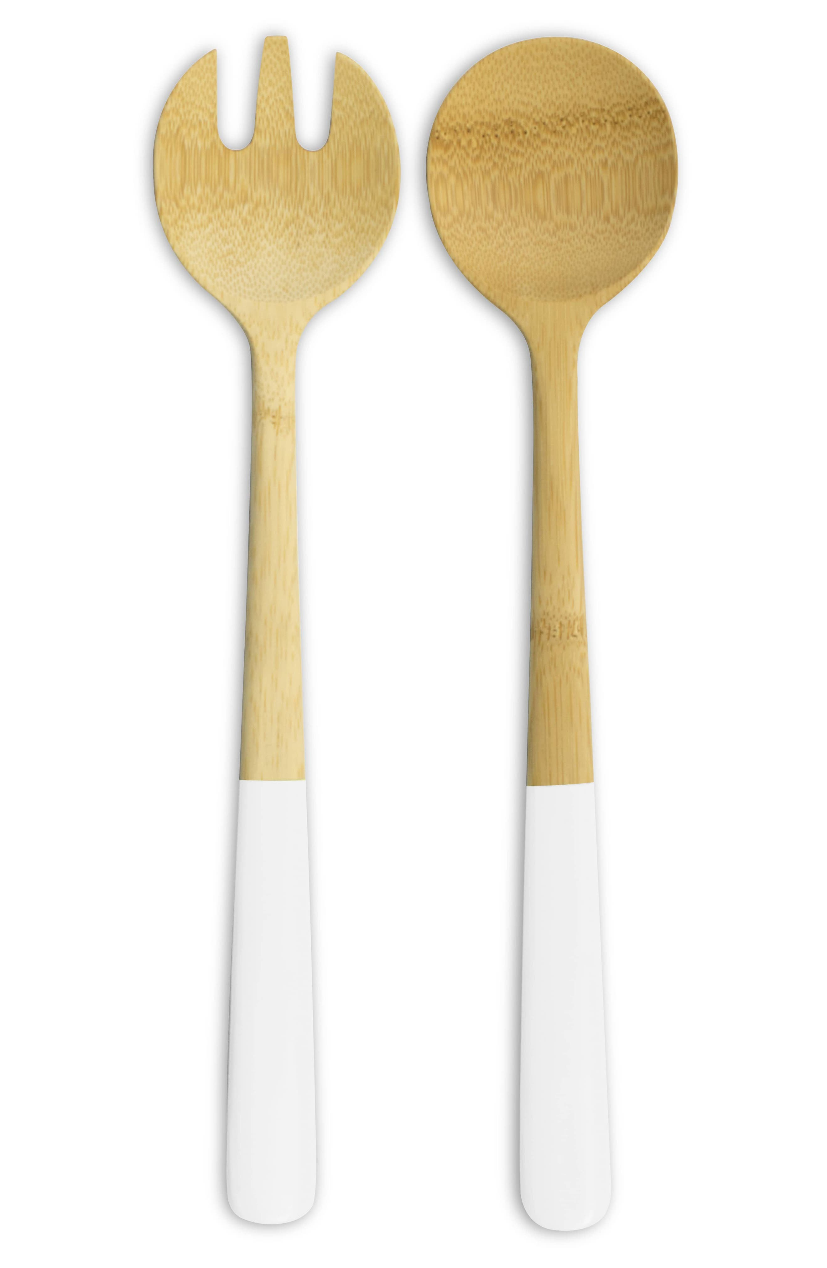 Bamboo Salad Servers,                             Alternate thumbnail 2, color,                             100