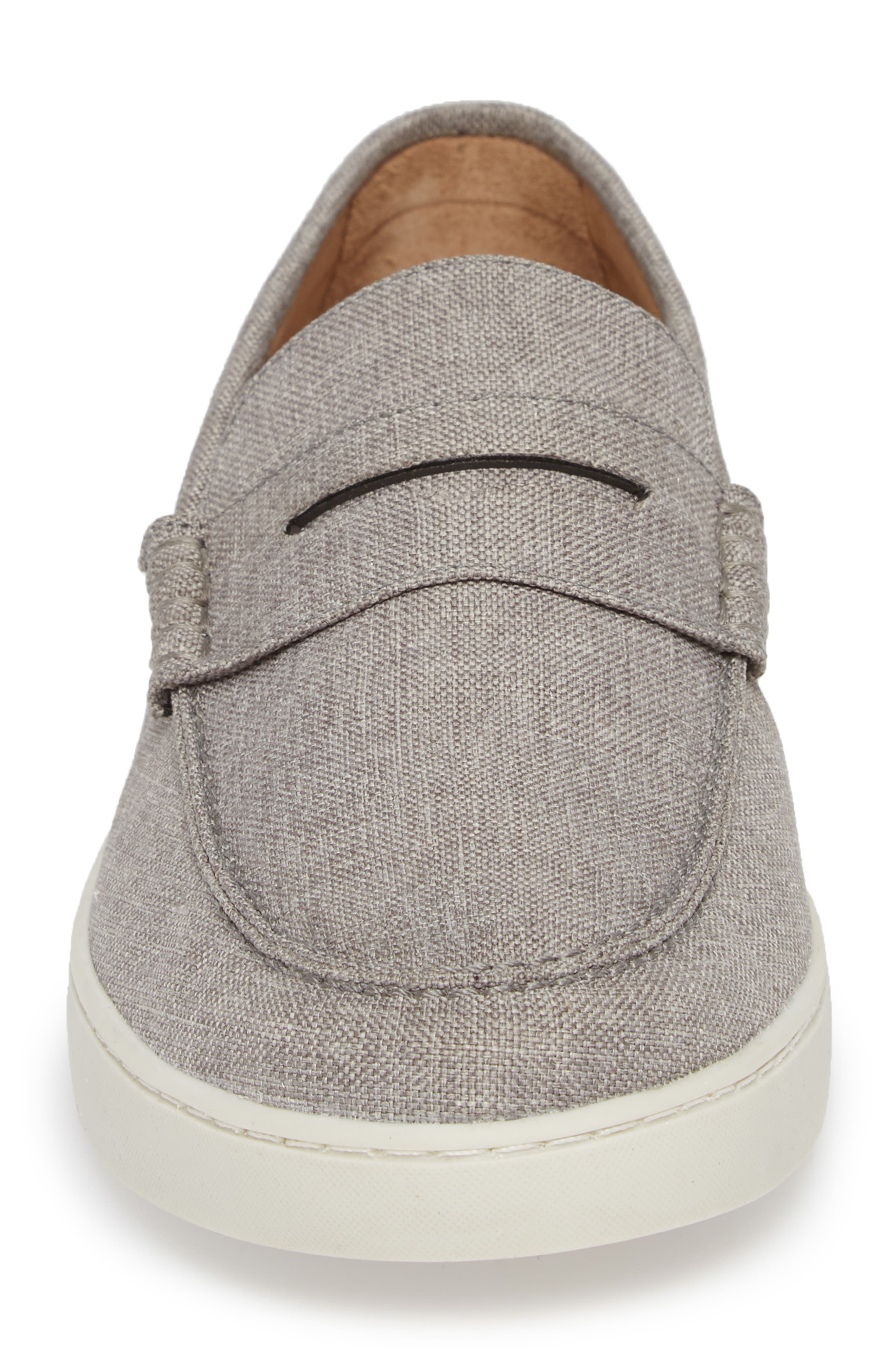 Chelan Penny Loafer,                             Alternate thumbnail 4, color,                             GREY CANVAS