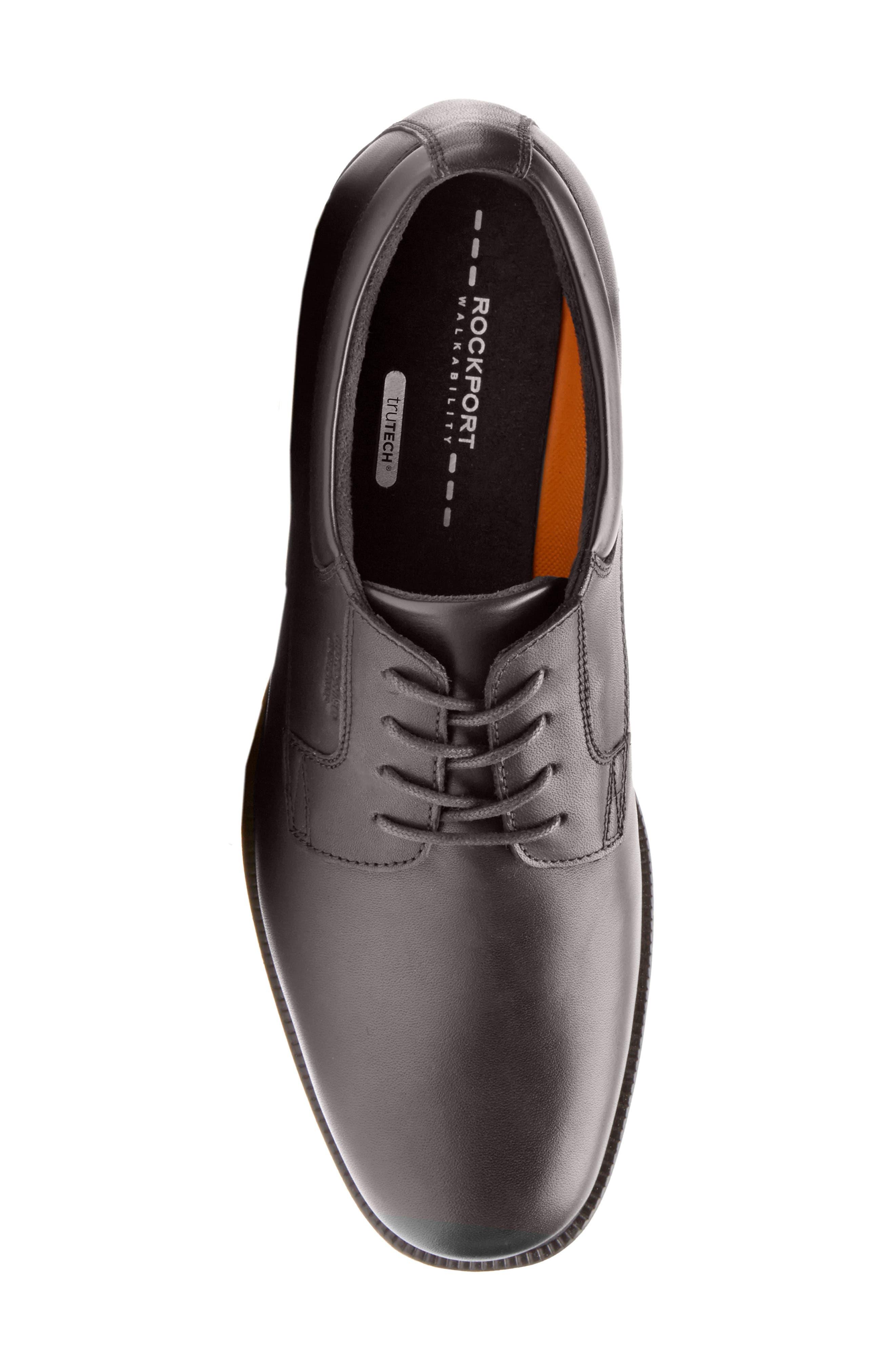 'Essential Details' Plain Toe Derby,                             Alternate thumbnail 2, color,                             BLACK