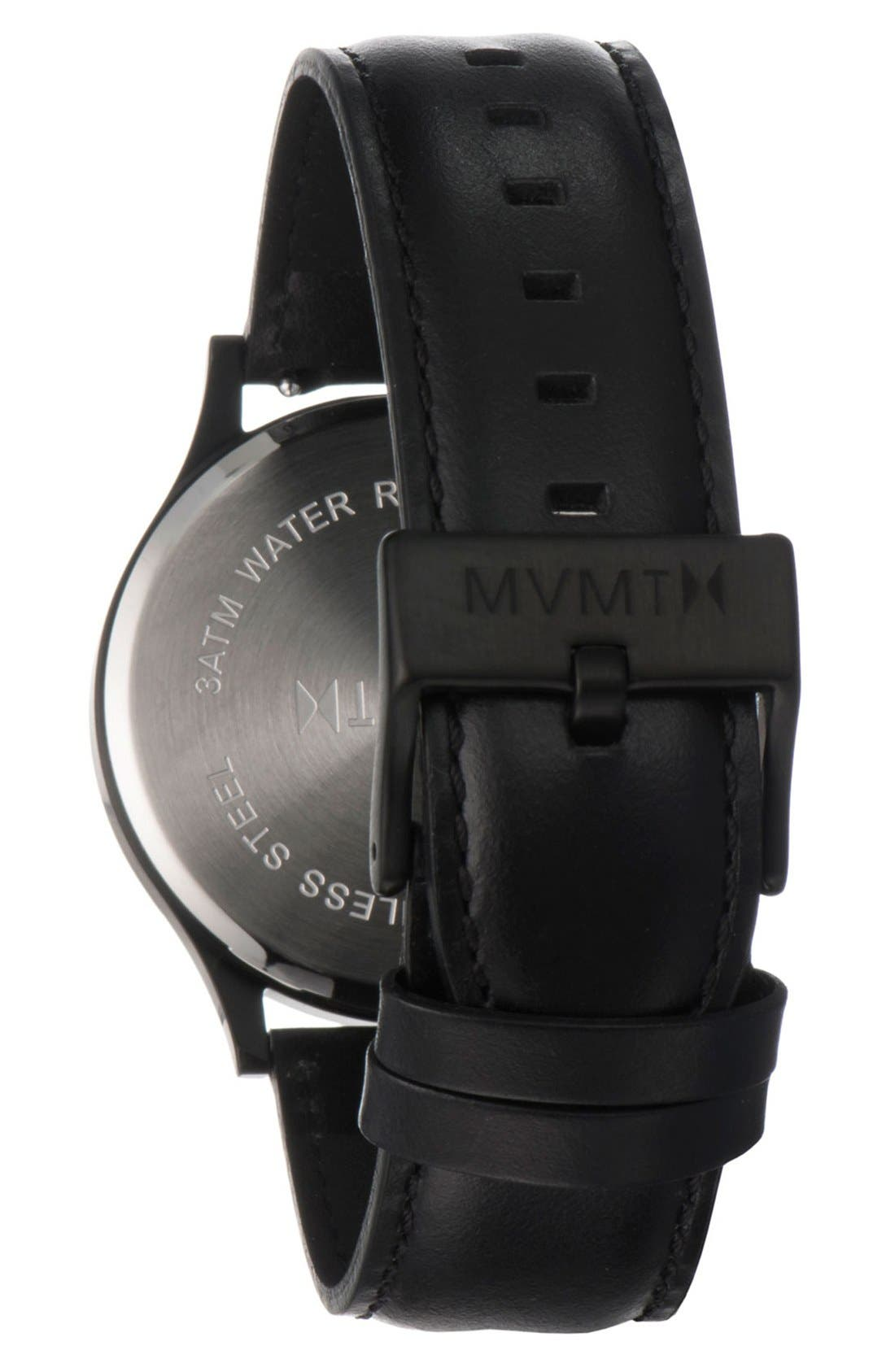 Leather Strap Watch, 40mm,                             Alternate thumbnail 2, color,                             002