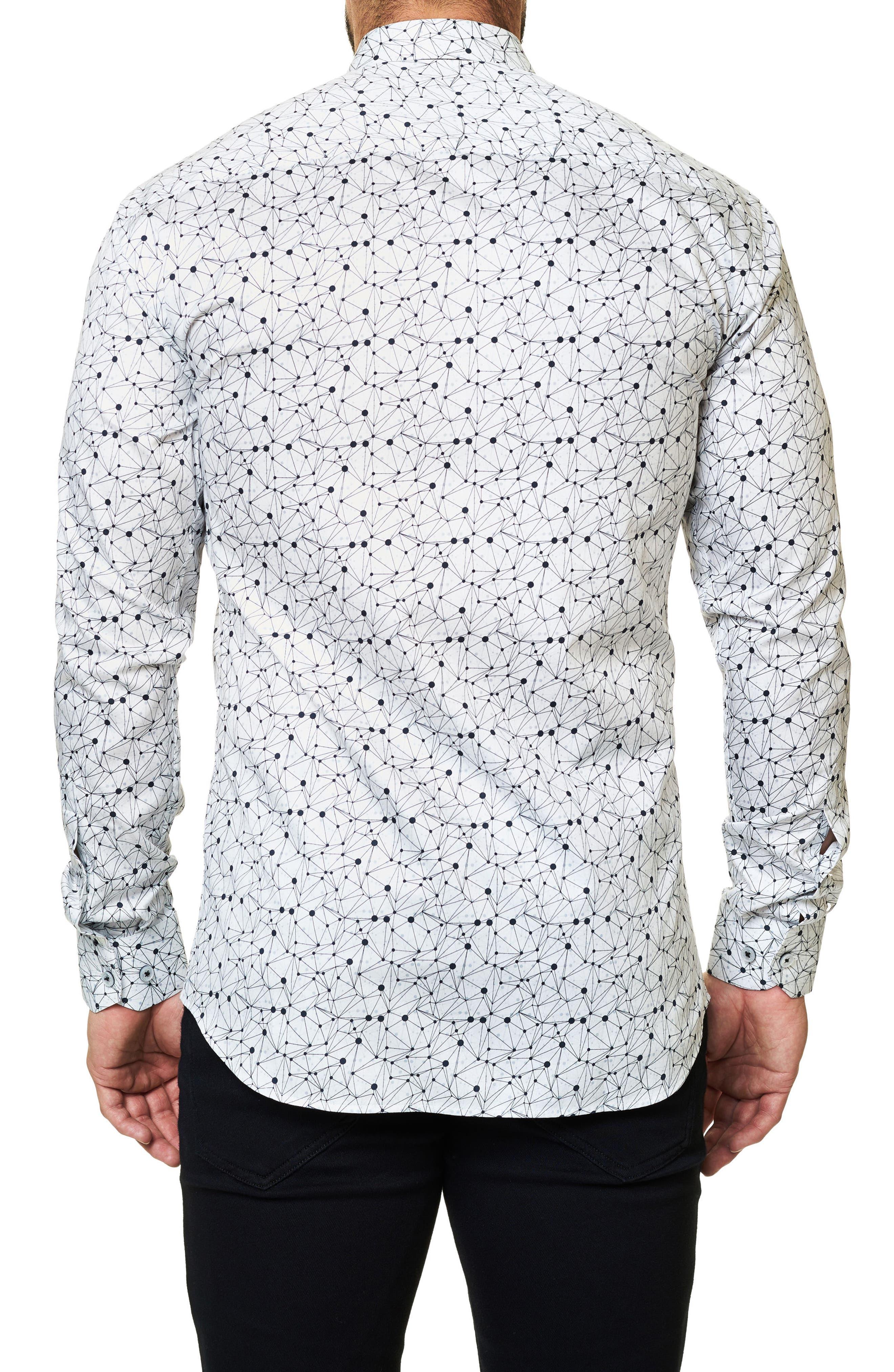 Trim Fit Print Sport Shirt,                             Alternate thumbnail 2, color,                             110