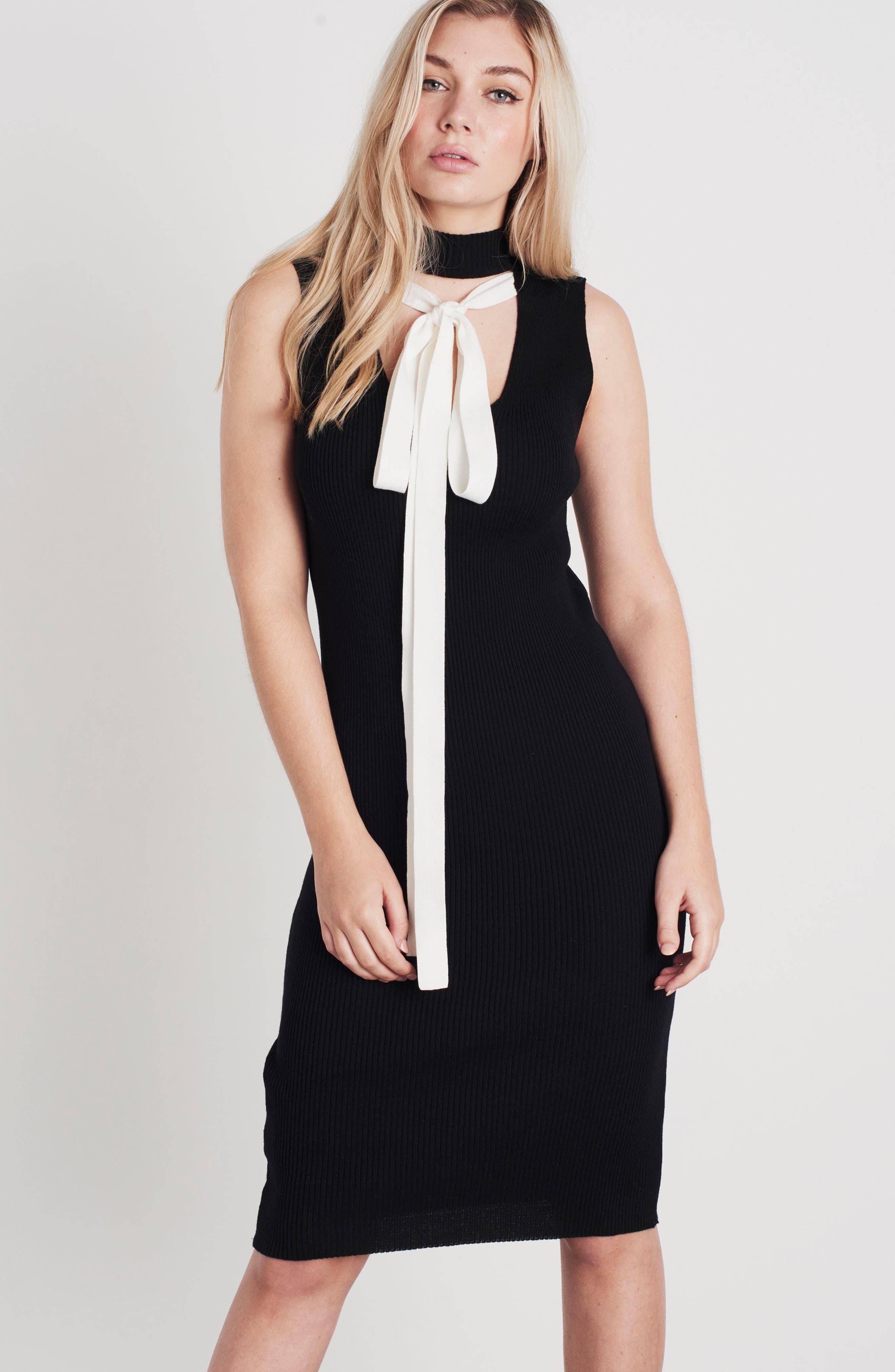 Crisscross Body-Con Dress,                             Alternate thumbnail 8, color,