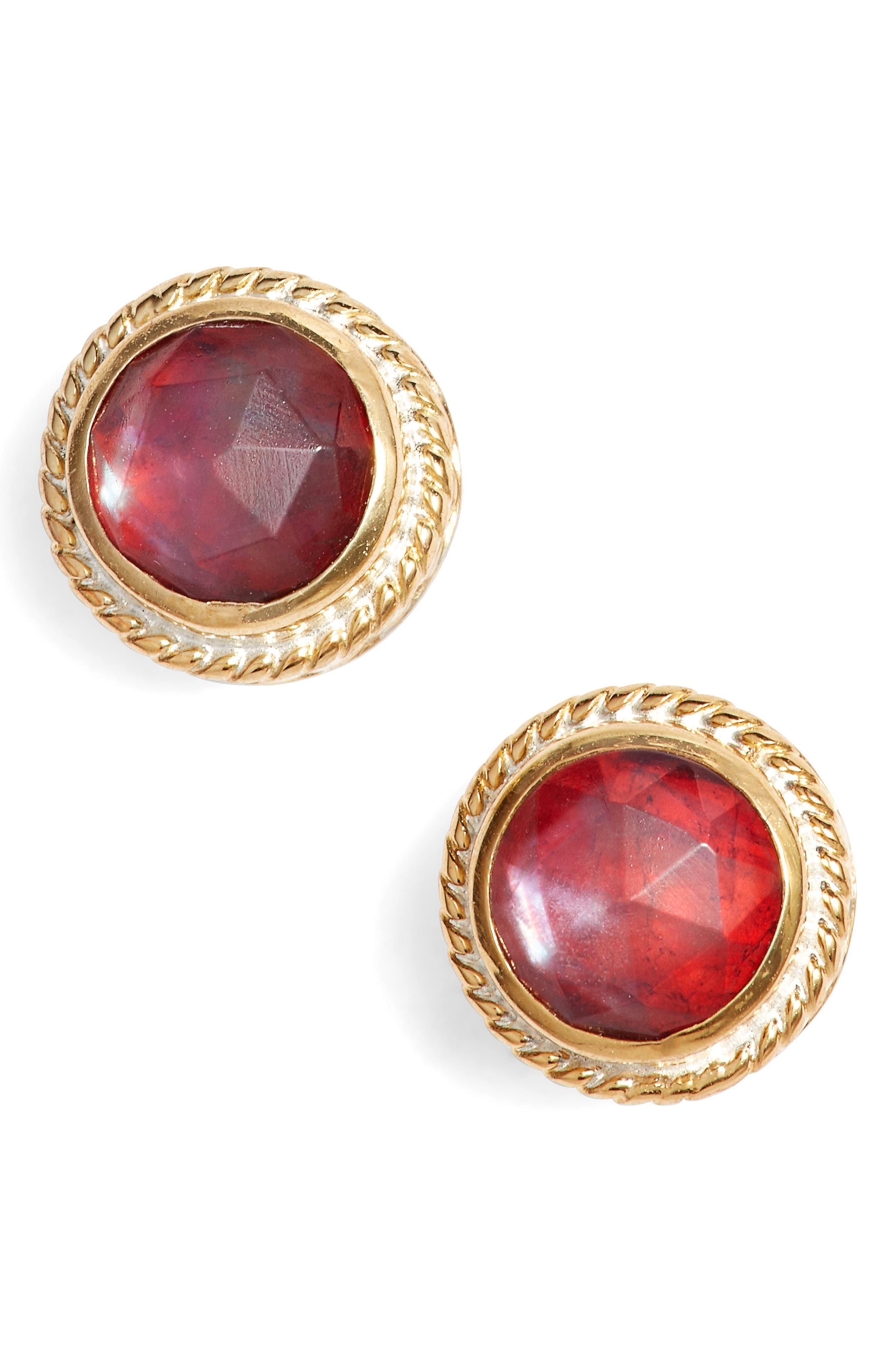 Stone Stud Earrings,                             Main thumbnail 5, color,