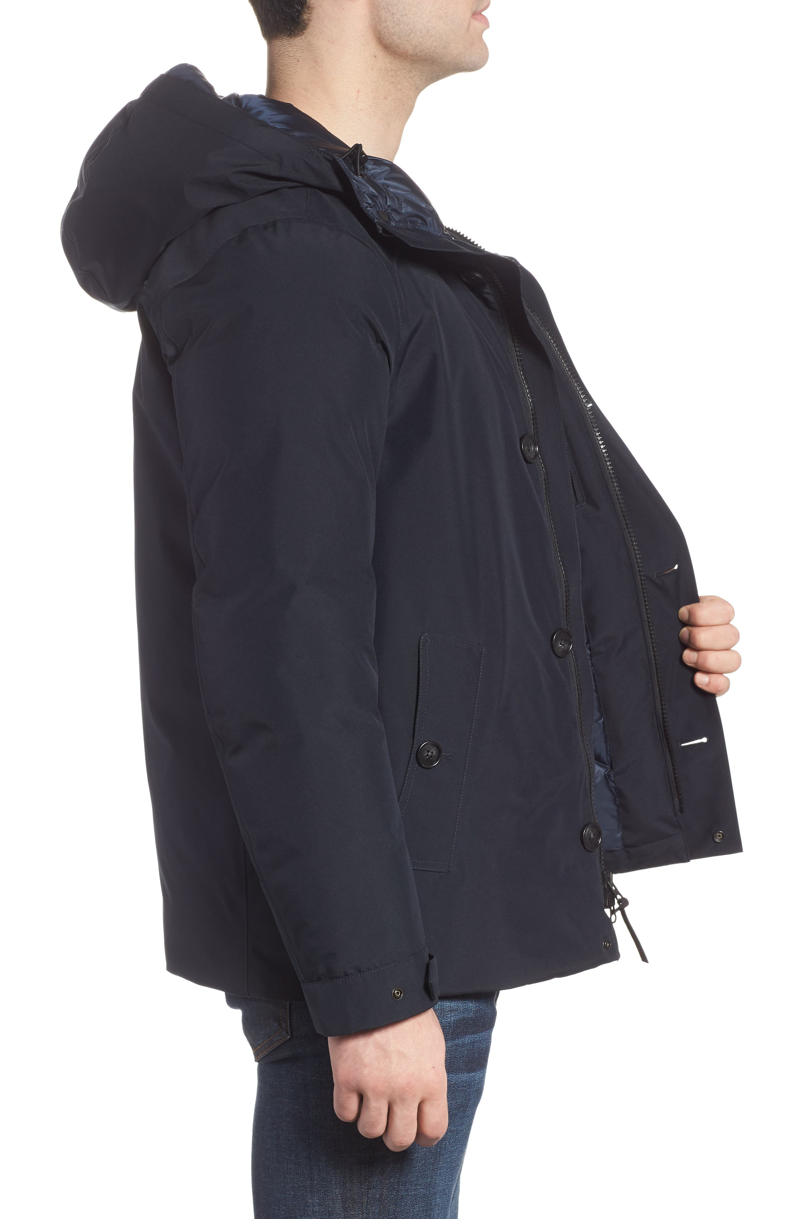 Waterproof Gore-Tex<sup>®</sup> Alpine Jacket,                             Alternate thumbnail 3, color,                             NAVY MELTON