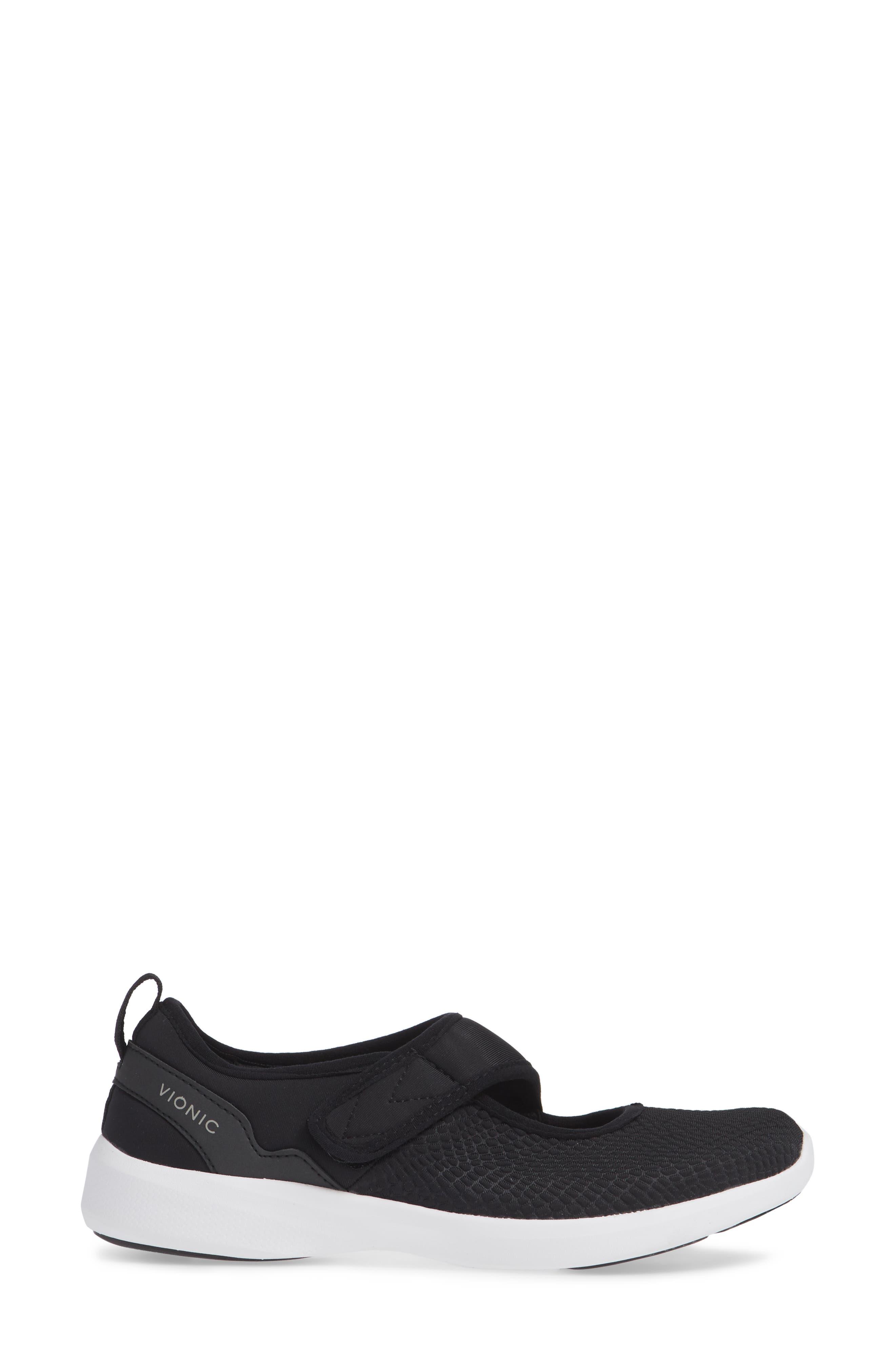 Sonnet Sneaker,                             Alternate thumbnail 3, color,                             BLACK FABRIC