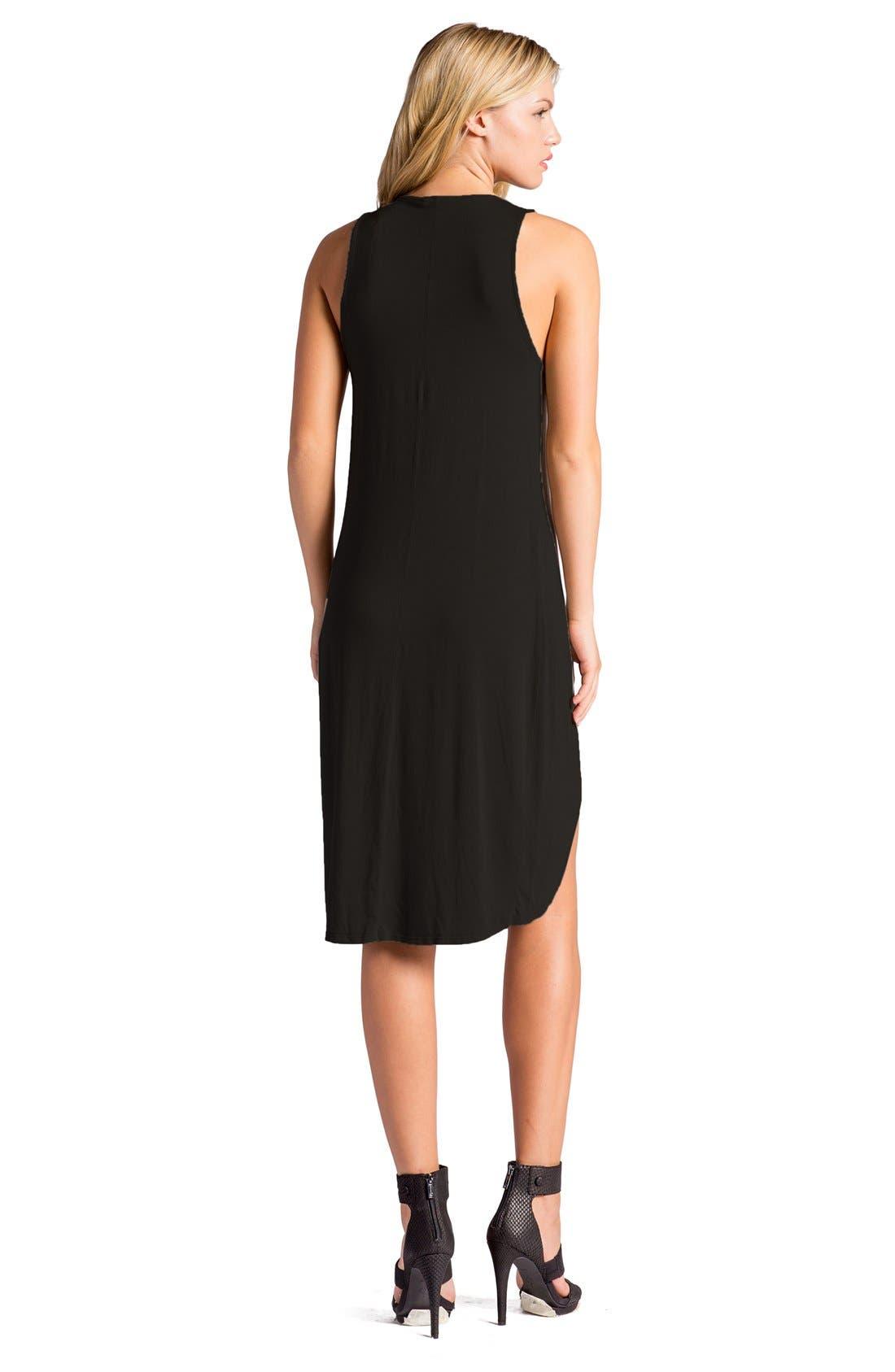 Elba Asymmetrical Hem Sleeveless Jersey Dress,                             Alternate thumbnail 11, color,