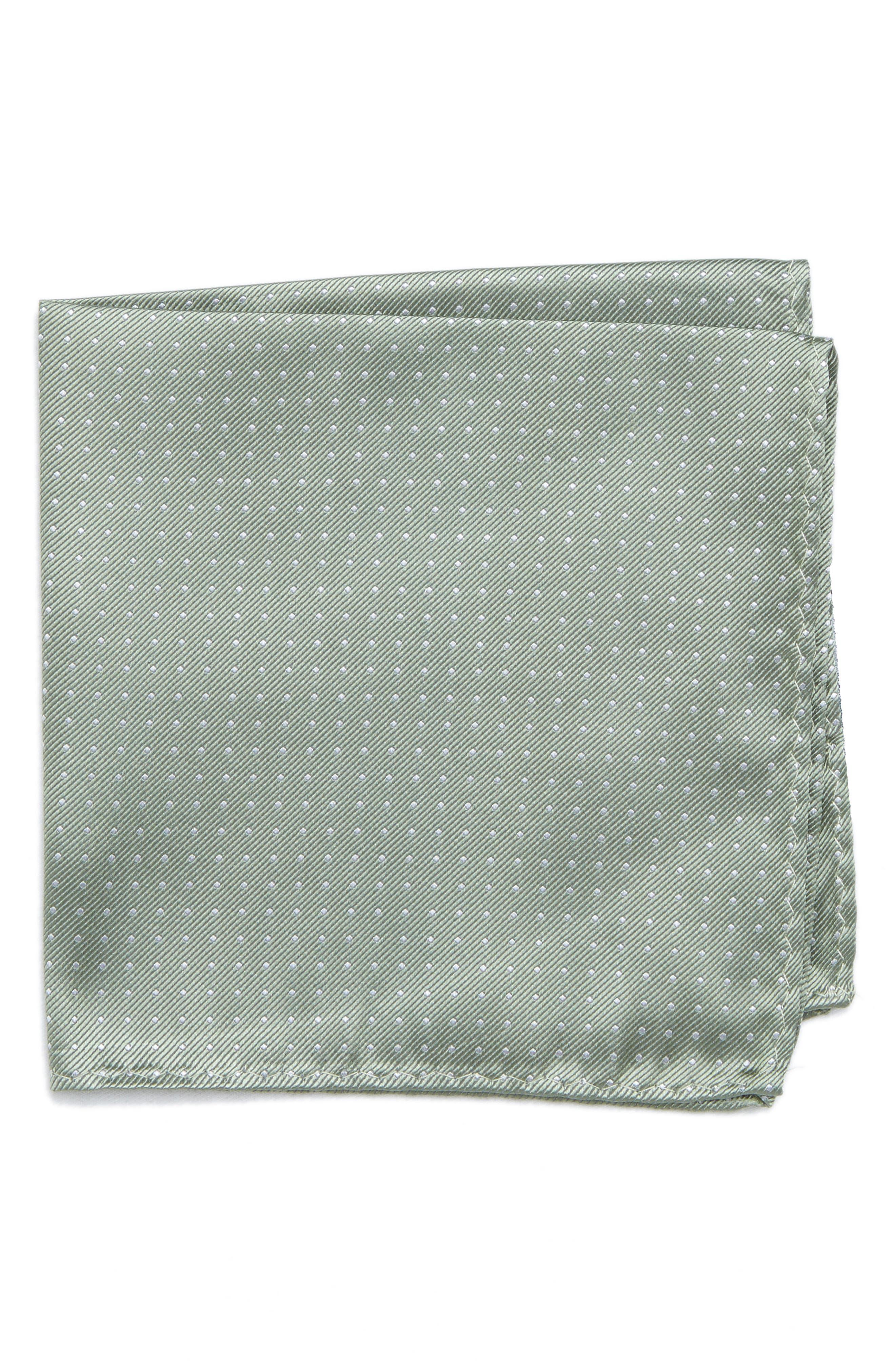 Mini Dots Silk Pocket Square,                             Main thumbnail 1, color,                             357