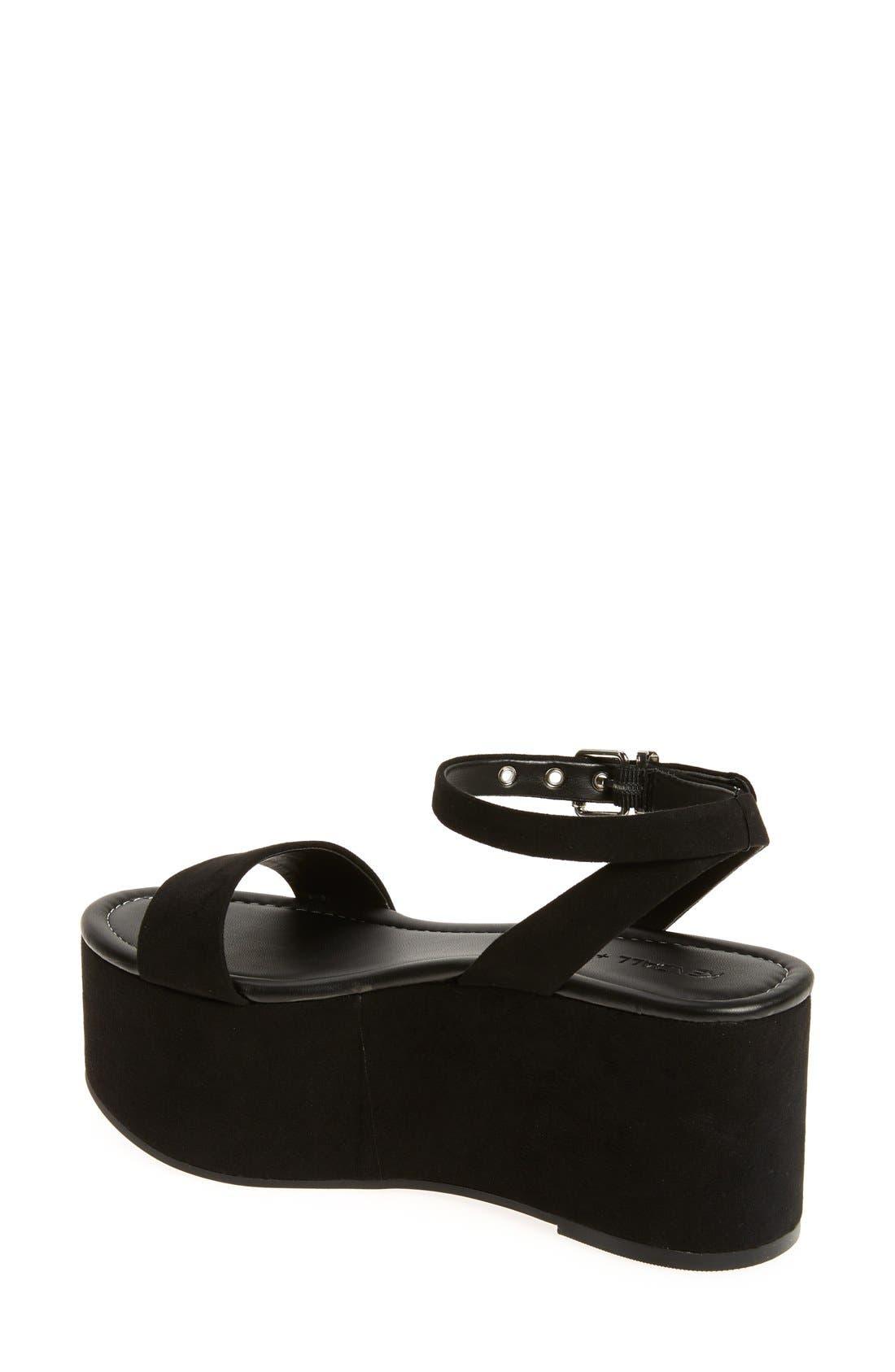 'Demi' Platform Sandal,                             Alternate thumbnail 3, color,                             001