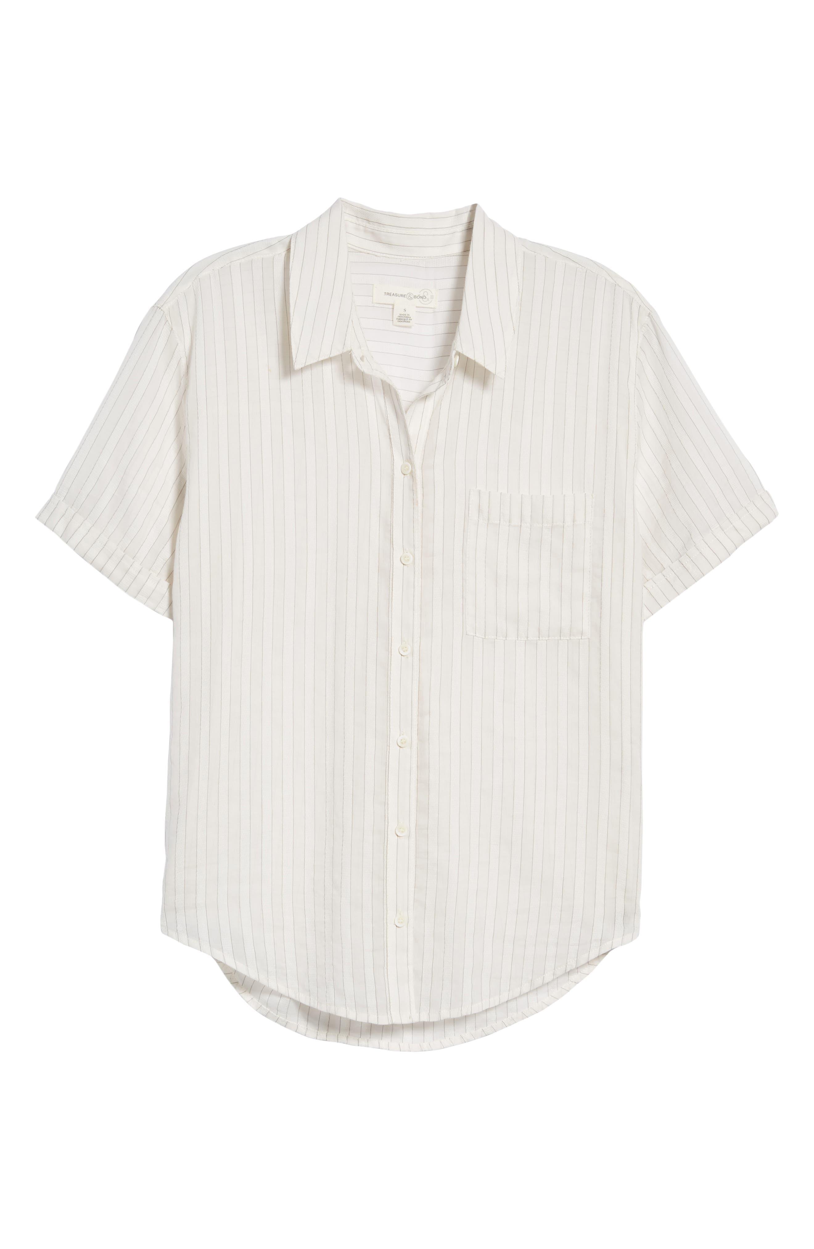 Stripe Shirt,                             Alternate thumbnail 7, color,                             100