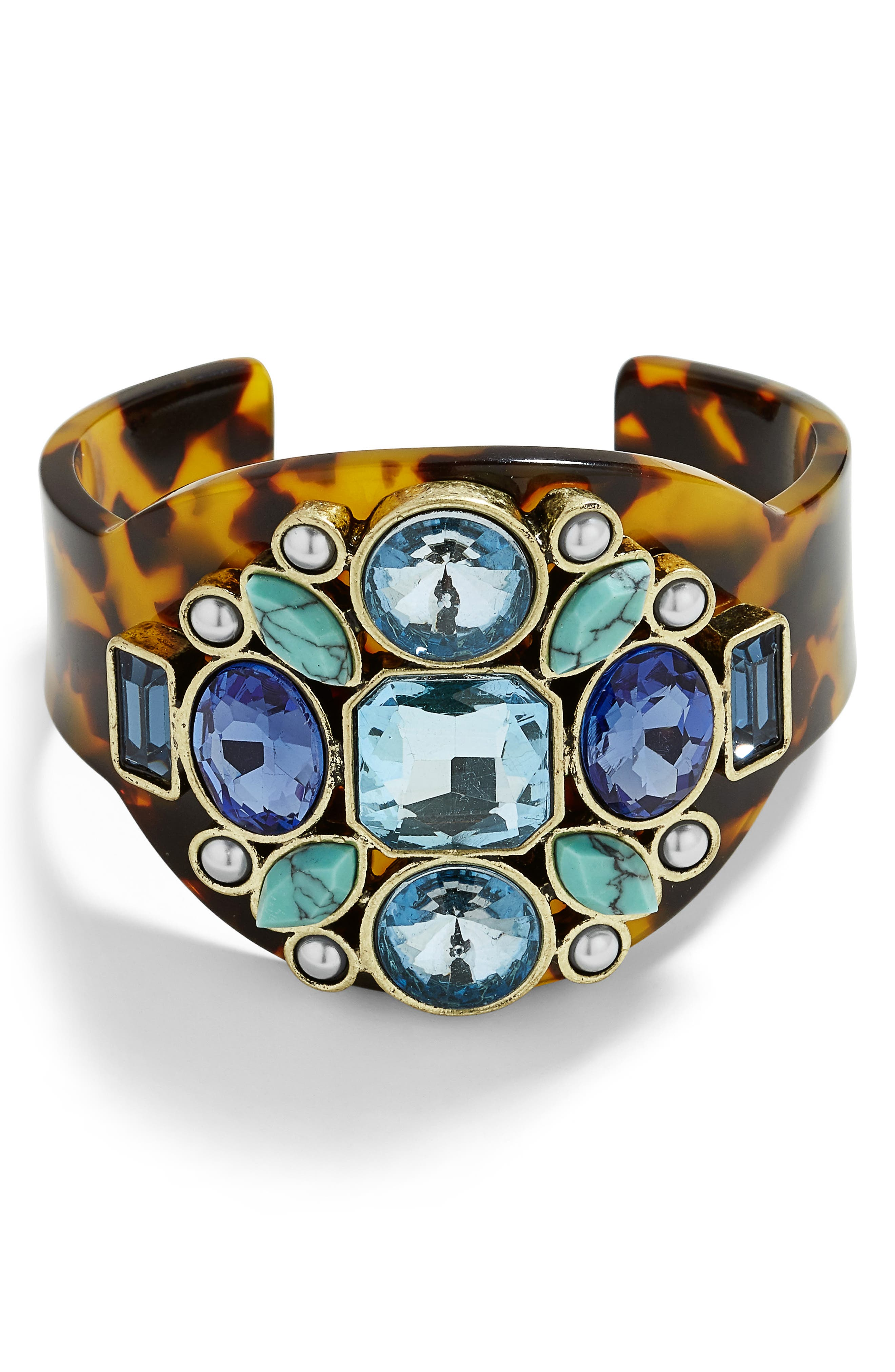 x Micaela Erlanger Out of Office Cuff,                         Main,                         color, TORTOISE