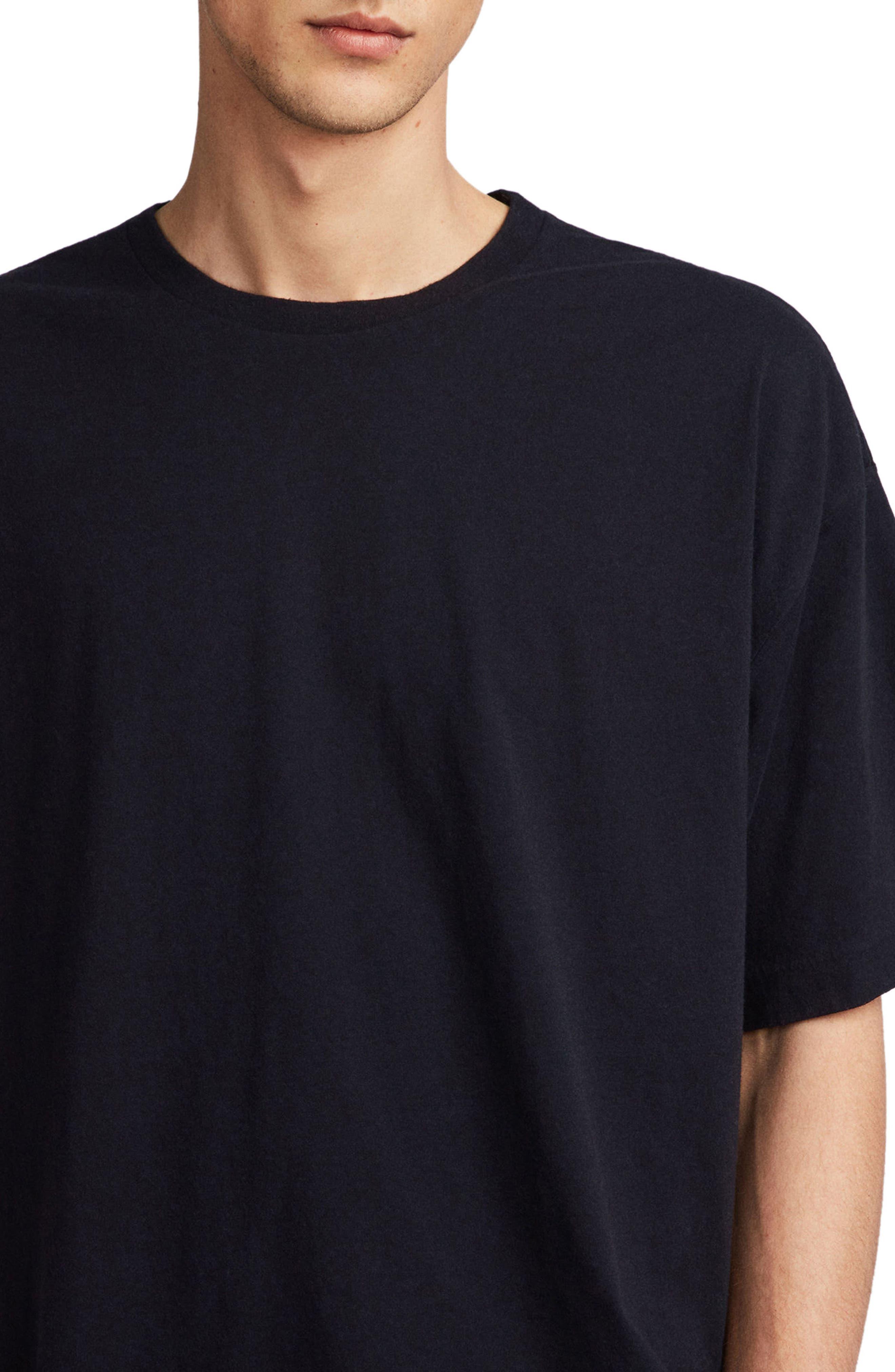 Atnom Crewneck T-Shirt,                             Alternate thumbnail 4, color,                             JET BLACK