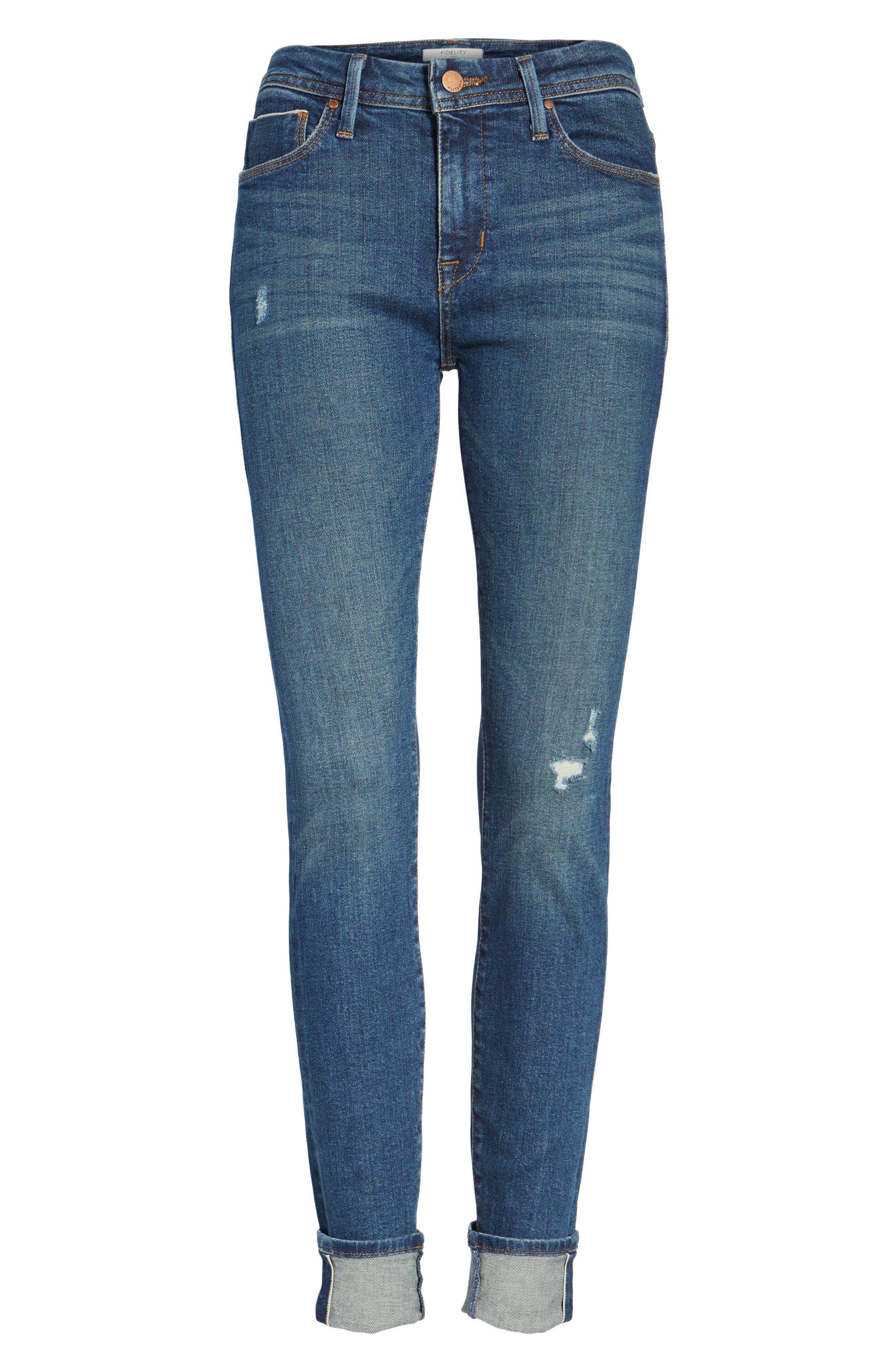 Belvedere Crop Skinny Jeans,                             Alternate thumbnail 6, color,