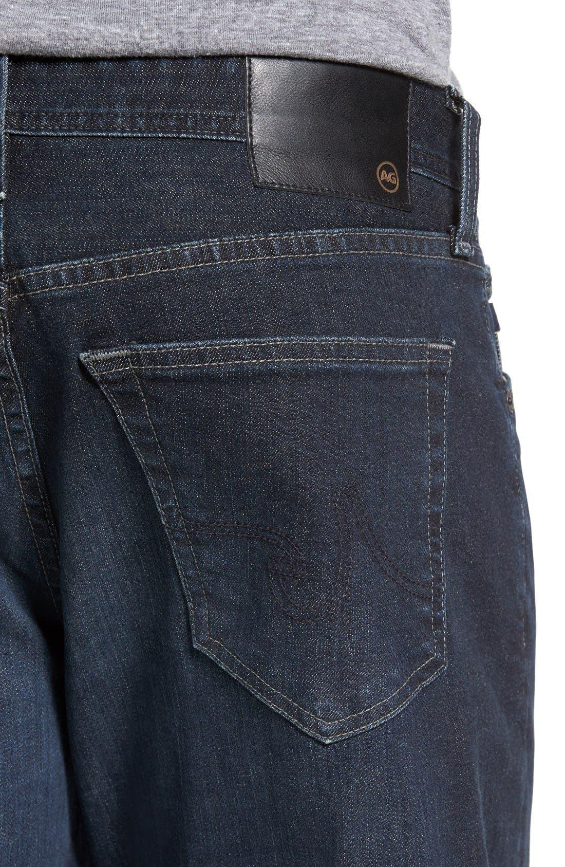 Graduate Slim Straight Leg Jeans,                             Alternate thumbnail 4, color,                             ROCKWELL
