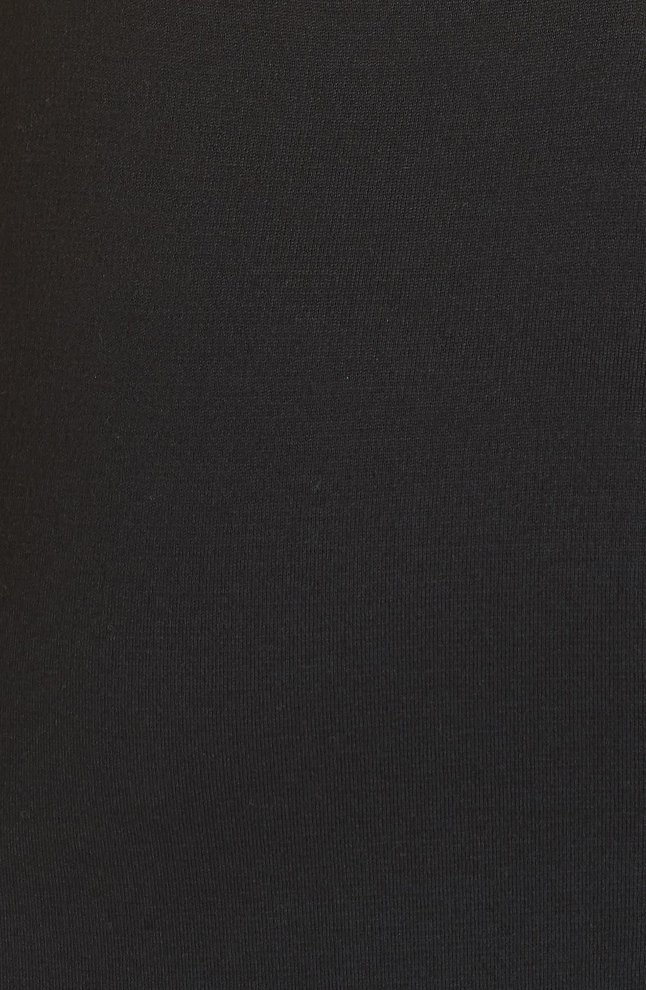 Sleeveless Milano Knit Dress,                             Alternate thumbnail 5, color,                             CAVIAR