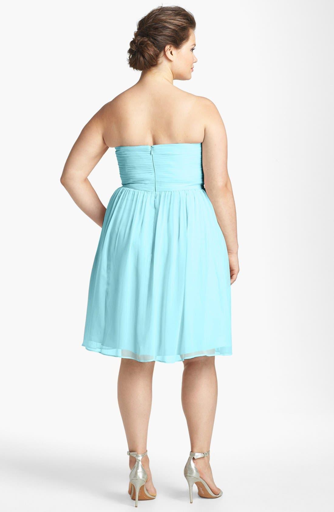 'Morgan' Strapless Silk Chiffon Dress,                             Alternate thumbnail 50, color,