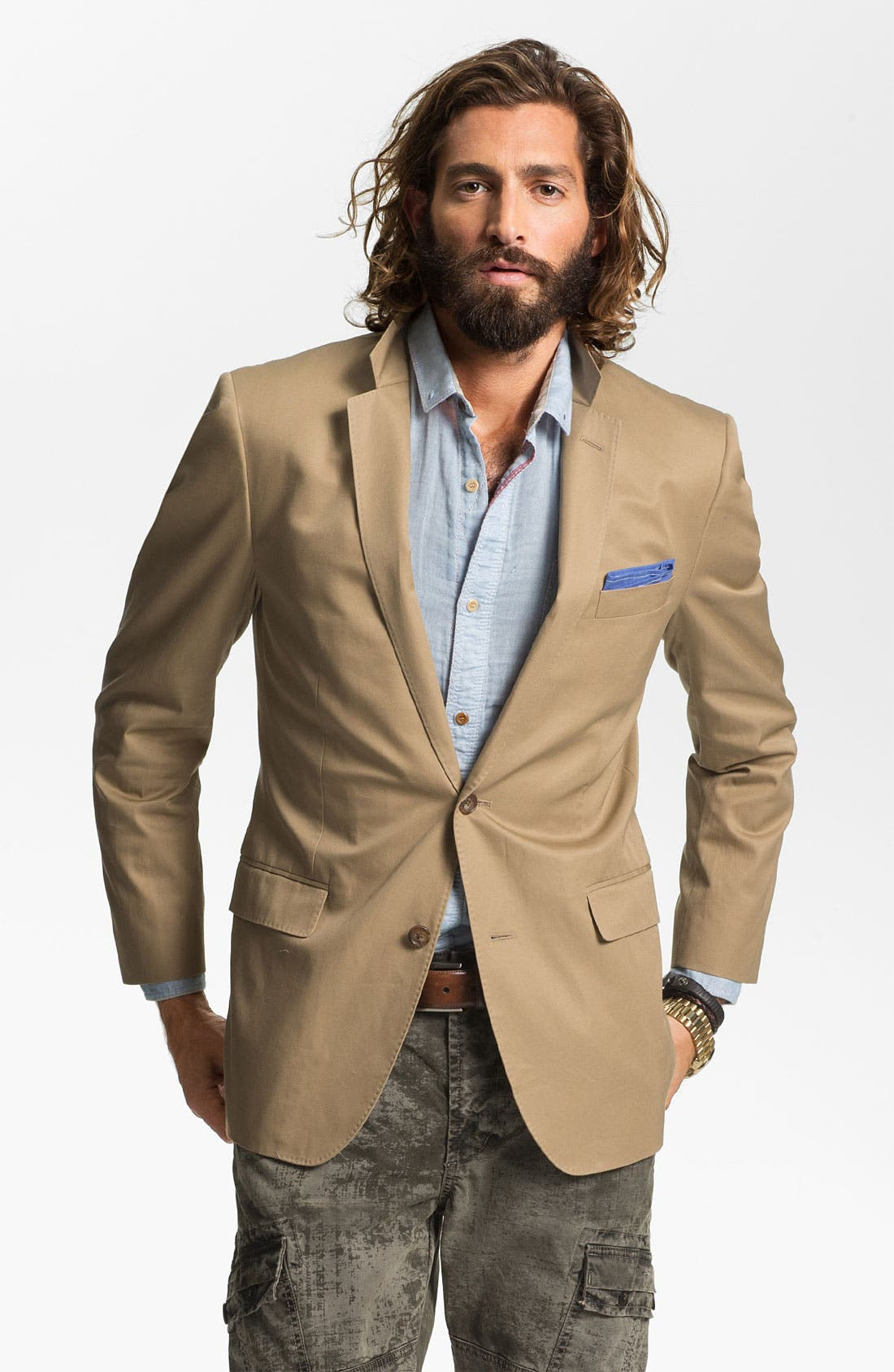 Cotton Blazer,                             Main thumbnail 1, color,