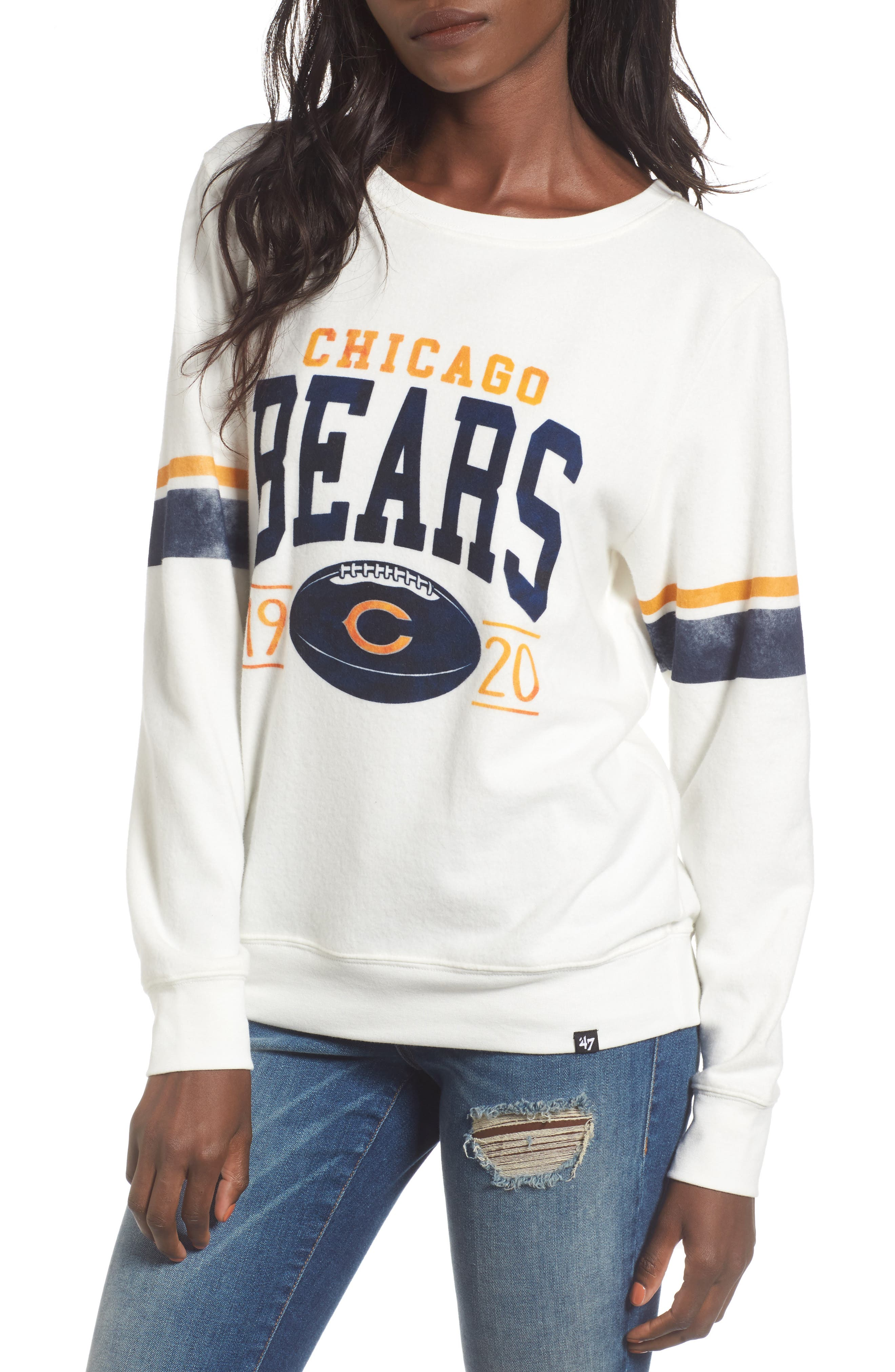 Chicago Bears Throwback Sweatshirt,                             Main thumbnail 1, color,                             100