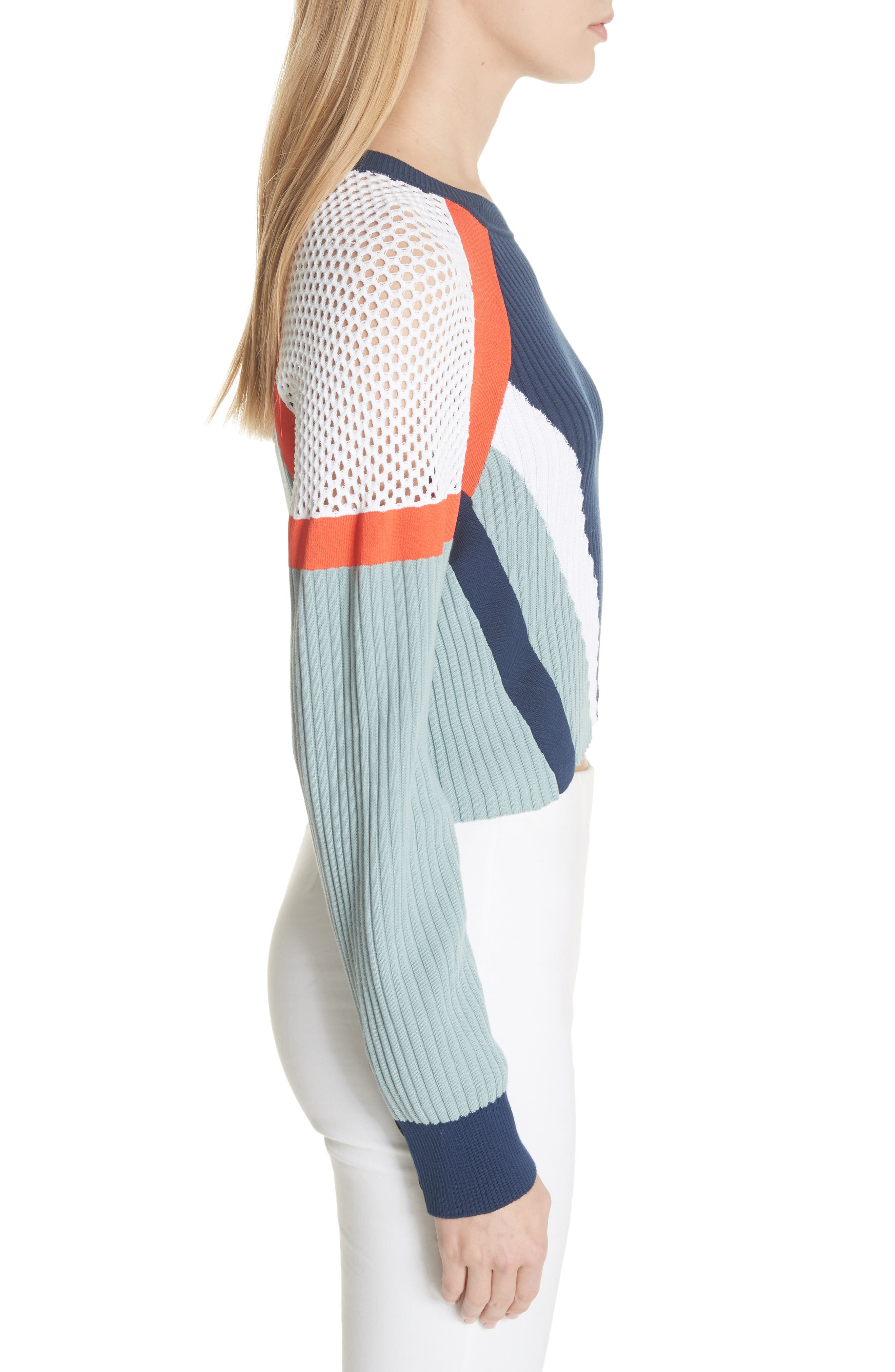 Lark Colorblock Crop Sweater,                             Alternate thumbnail 3, color,                             463