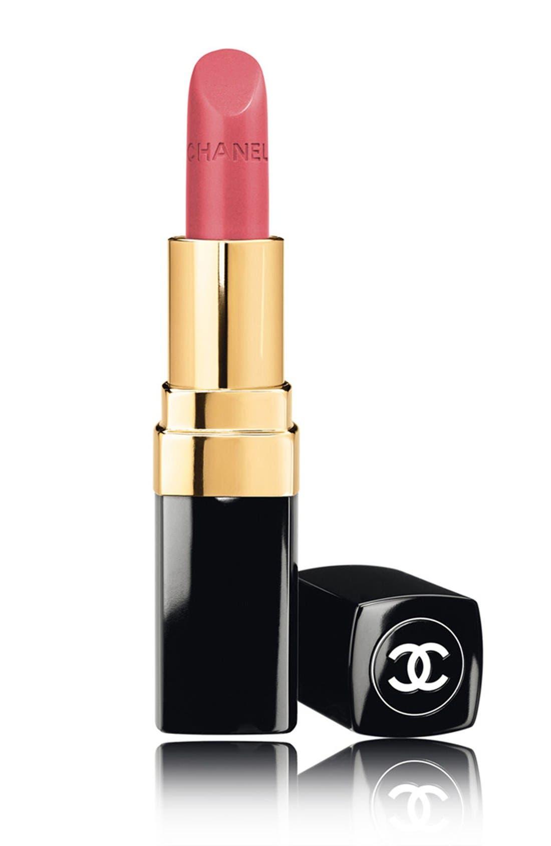 ROUGE COCO<br />Hydrating Crème Lip Colour,                             Main thumbnail 1, color,                             000