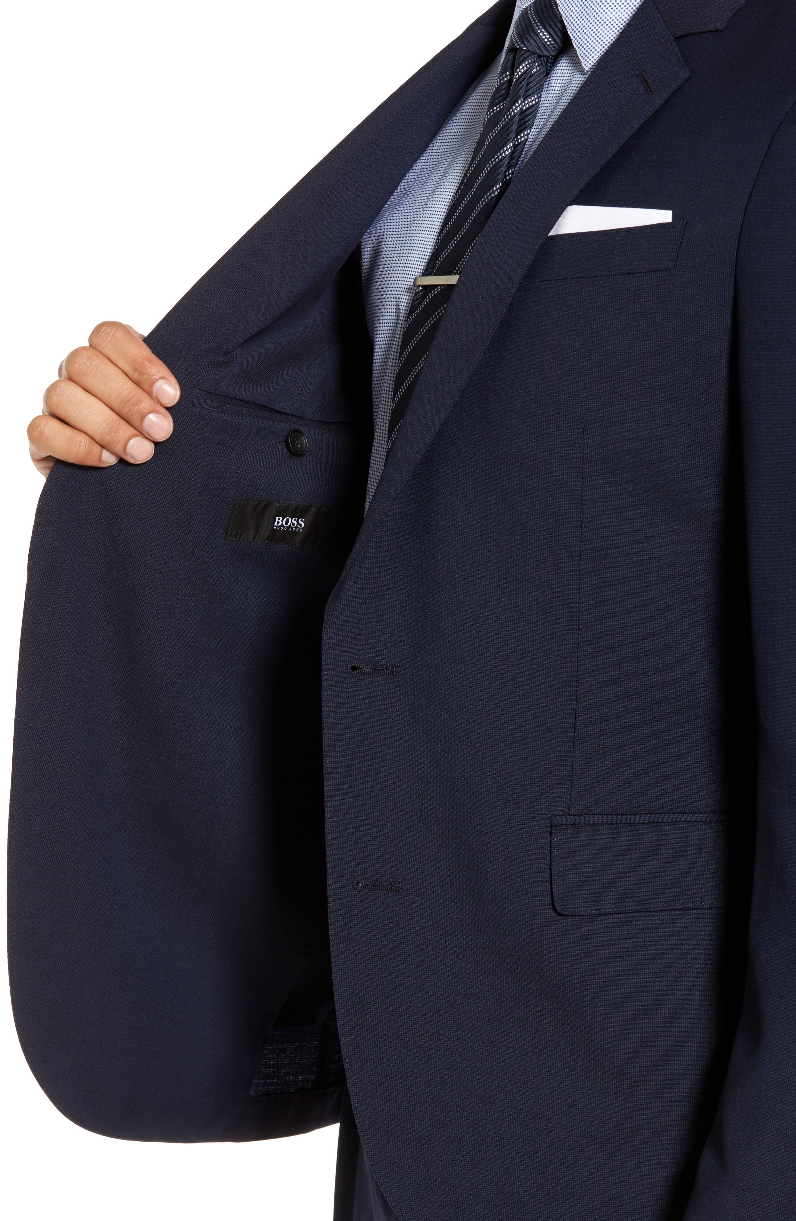 Nylen/Perry Trim Fit Solid Wool Suit,                             Alternate thumbnail 5, color,